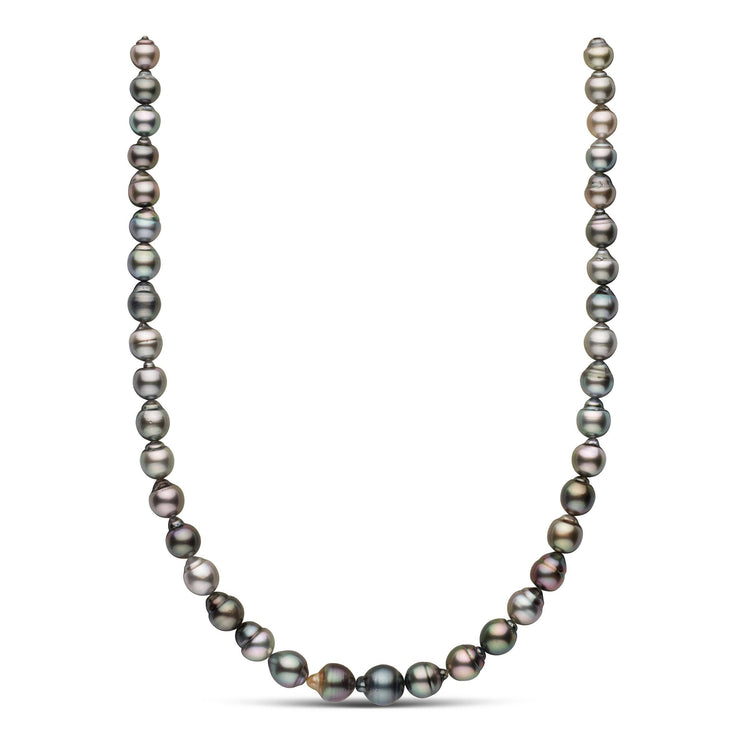 18-inch 8.0-10.8 mm AAA Drop Tahitian Pearl Necklace