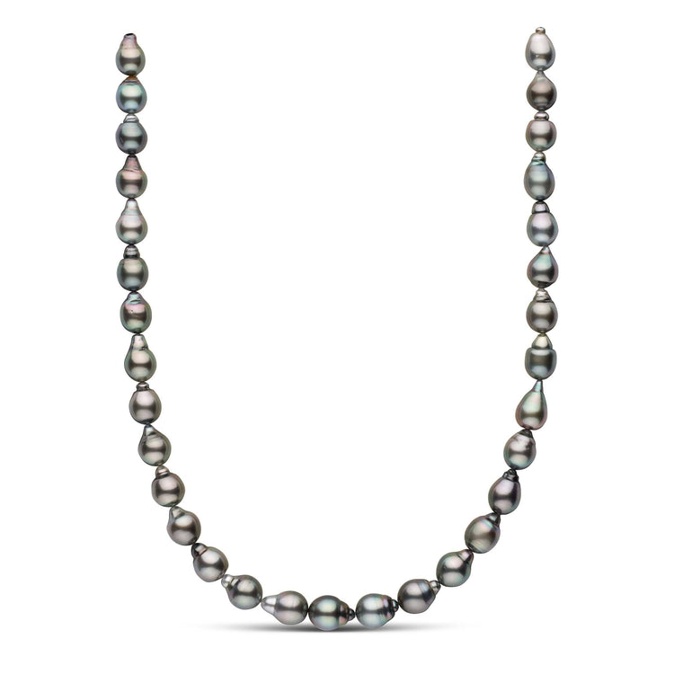 17.5-inch 8.9-10.4 mm AAA Drop Tahitian Pearl Necklace