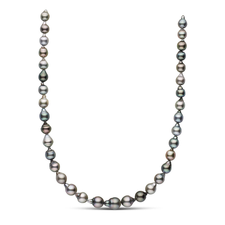 18-inch 8.2-10.7 mm AAA Drop Tahitian Pearl Necklace