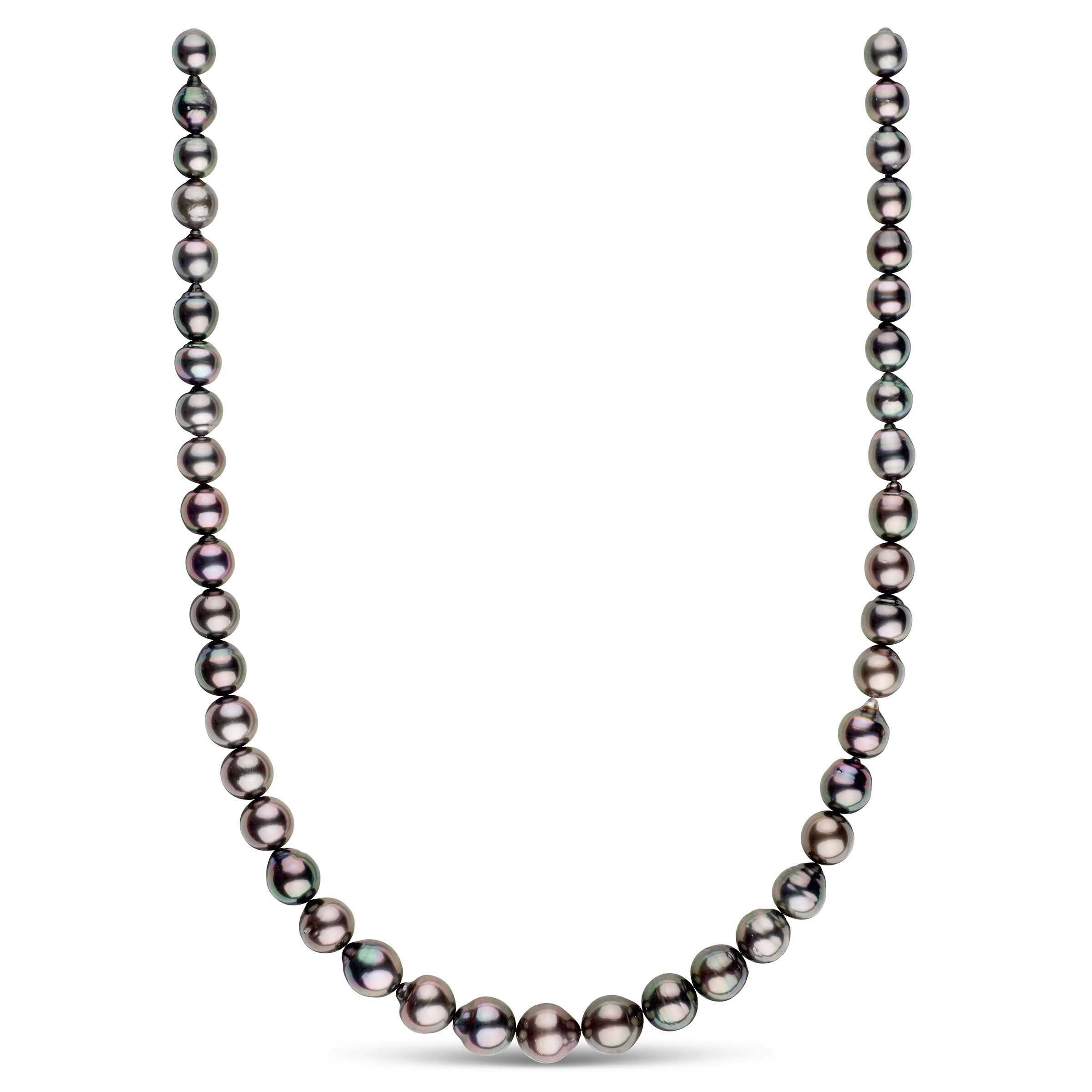 18-inch 8.0-10.4 mm AA+/AAA Drop Tahitian Pearl Necklace