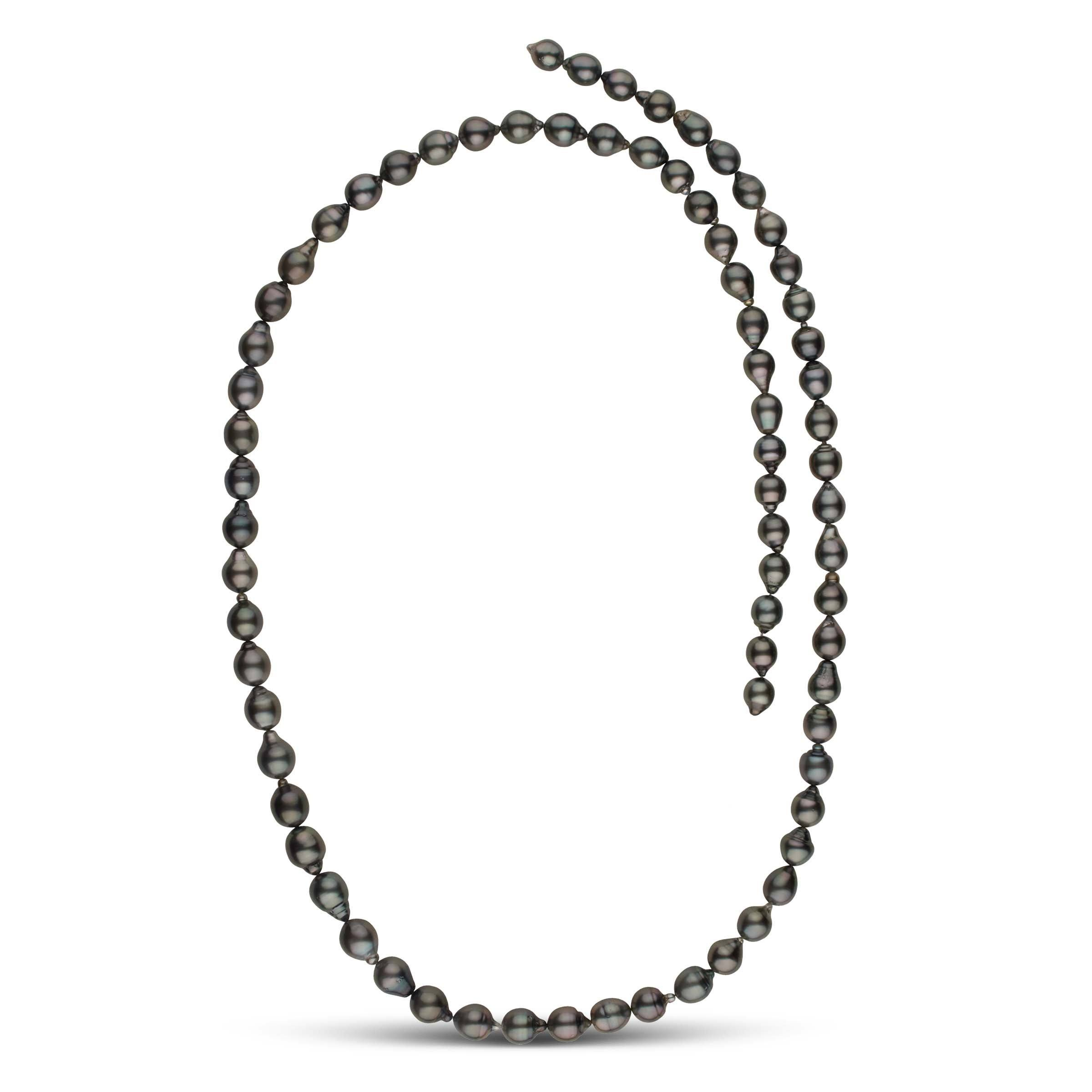36-inch 8.6-10.9 mm AA+/AAA Drop Tahitian Pearl Necklace