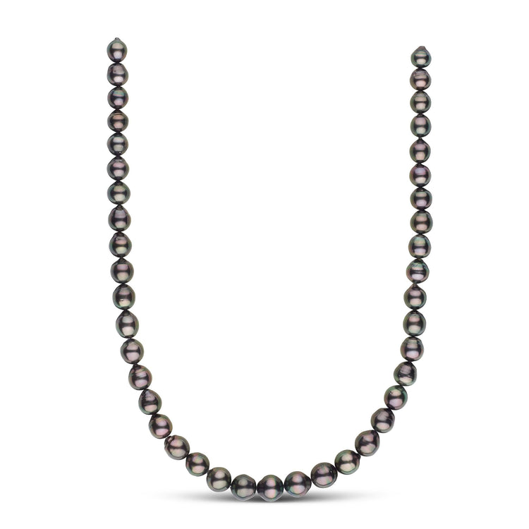 18-inch 8.3-10.7 mm AA+ Drop Tahitian Pearl Necklace
