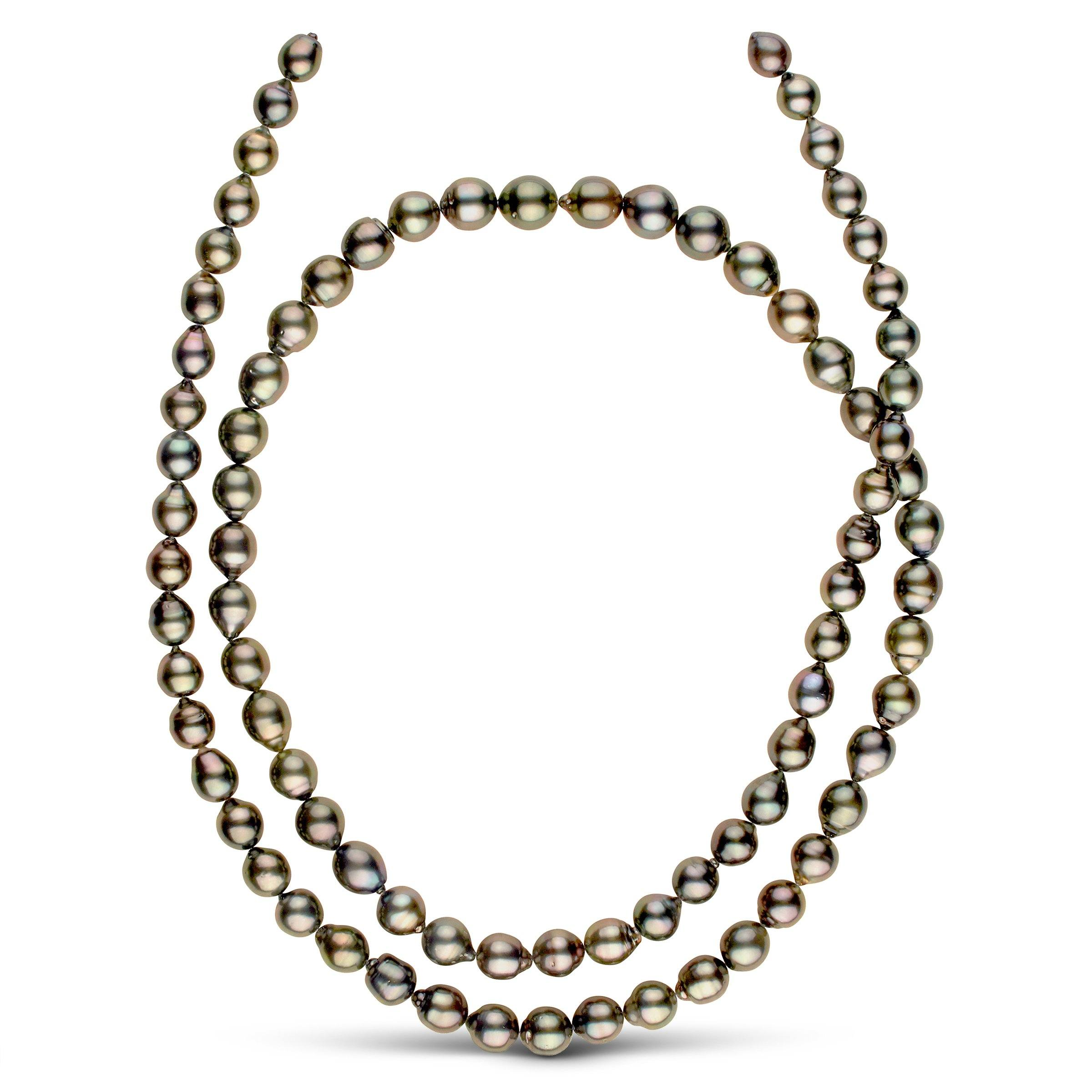 36-inch 8.5-10.8 mm AA+/AAA Drop Tahitian Pearl Necklace