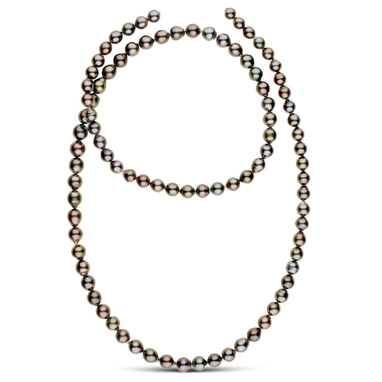 40-inch 8.0-10.5 mm AA+ Drop Tahitian Pearl Necklace