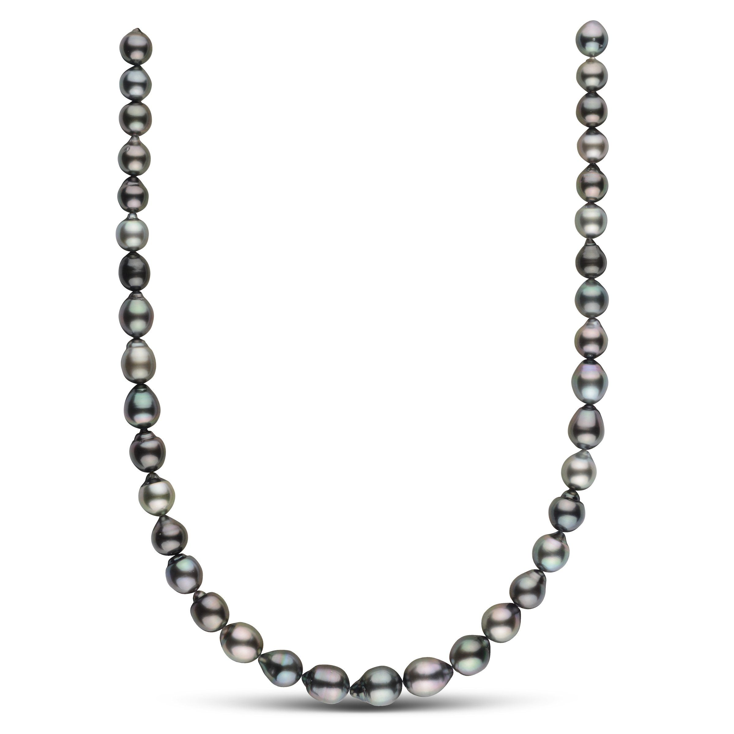 8.5-10.6 mm AAA Tahitian Drop Pearl Necklace