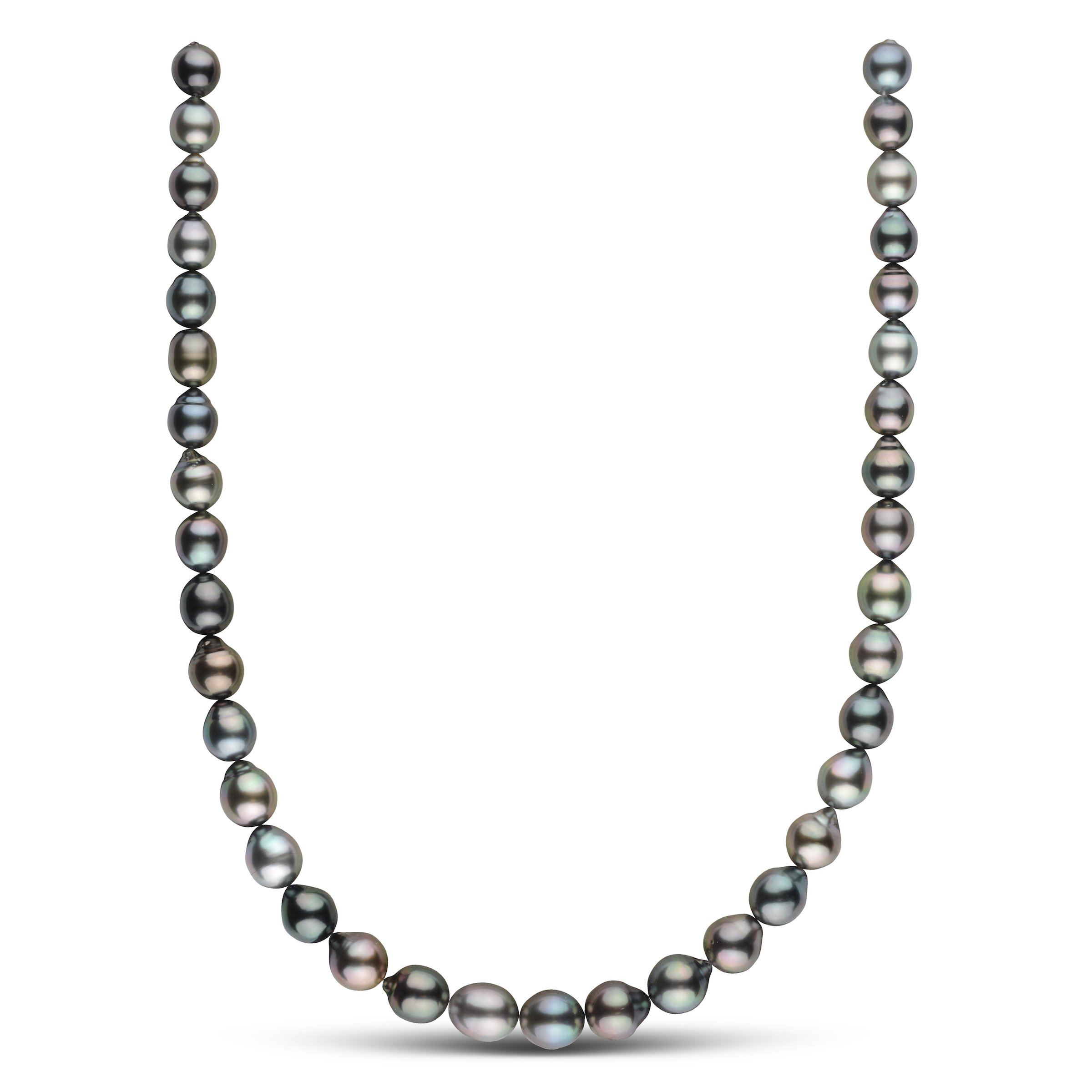 8.6-10.4 mm AAA Tahitian Drop Pearl Necklace