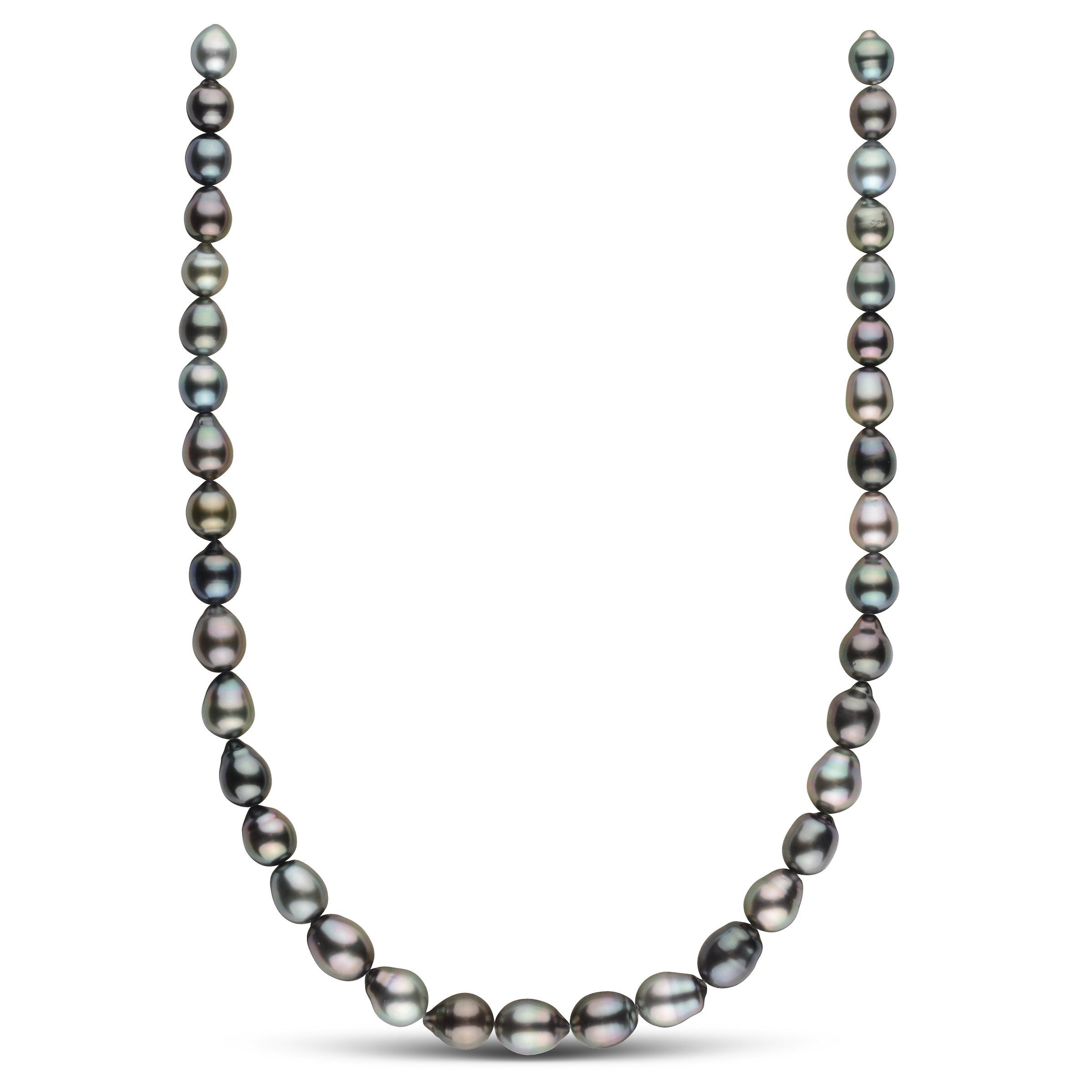 8.5-10.3 mm AAA Tahitian Drop Pearl Necklace