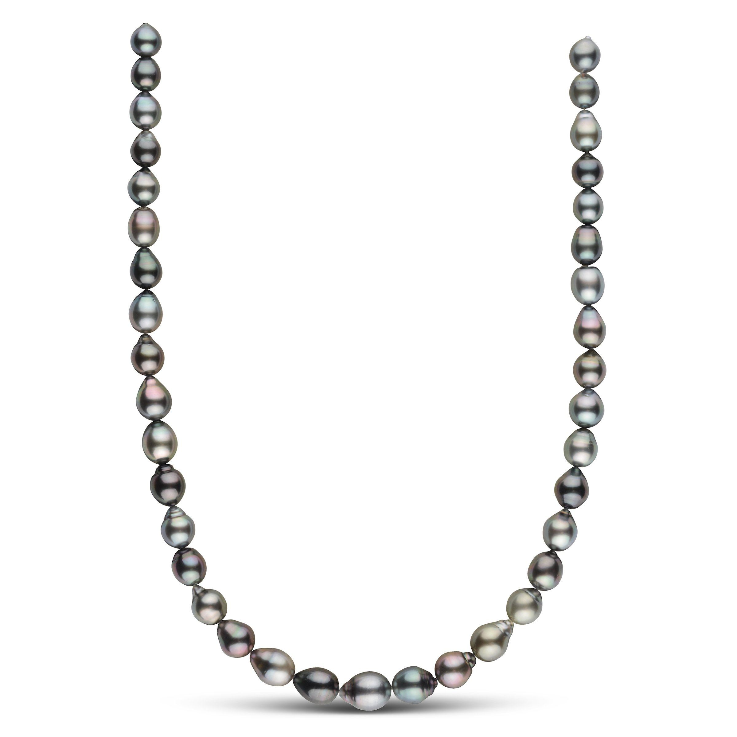 8.7-10.7 mm AAA Tahitian Drop Pearl Necklace