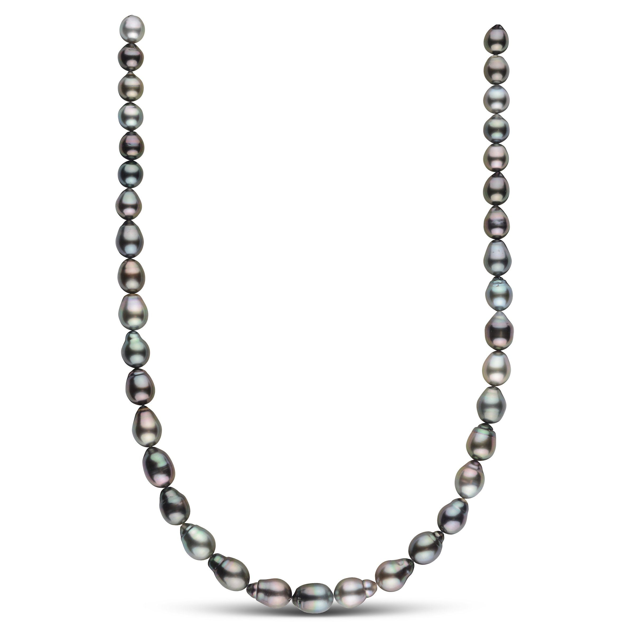 8.5-10.1 mm AAA Tahitian Drop Pearl Necklace