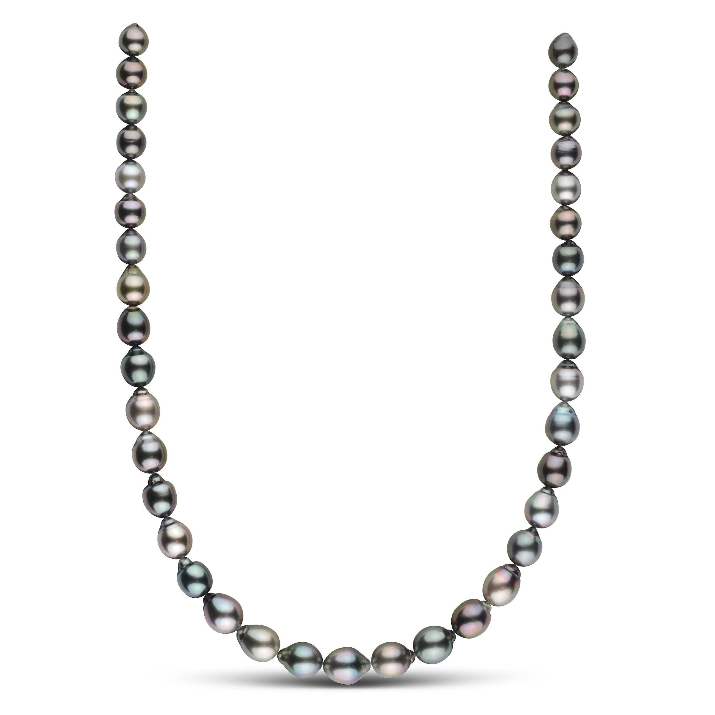 8.5-10.4 mm AAA Tahitian Drop Pearl Necklace