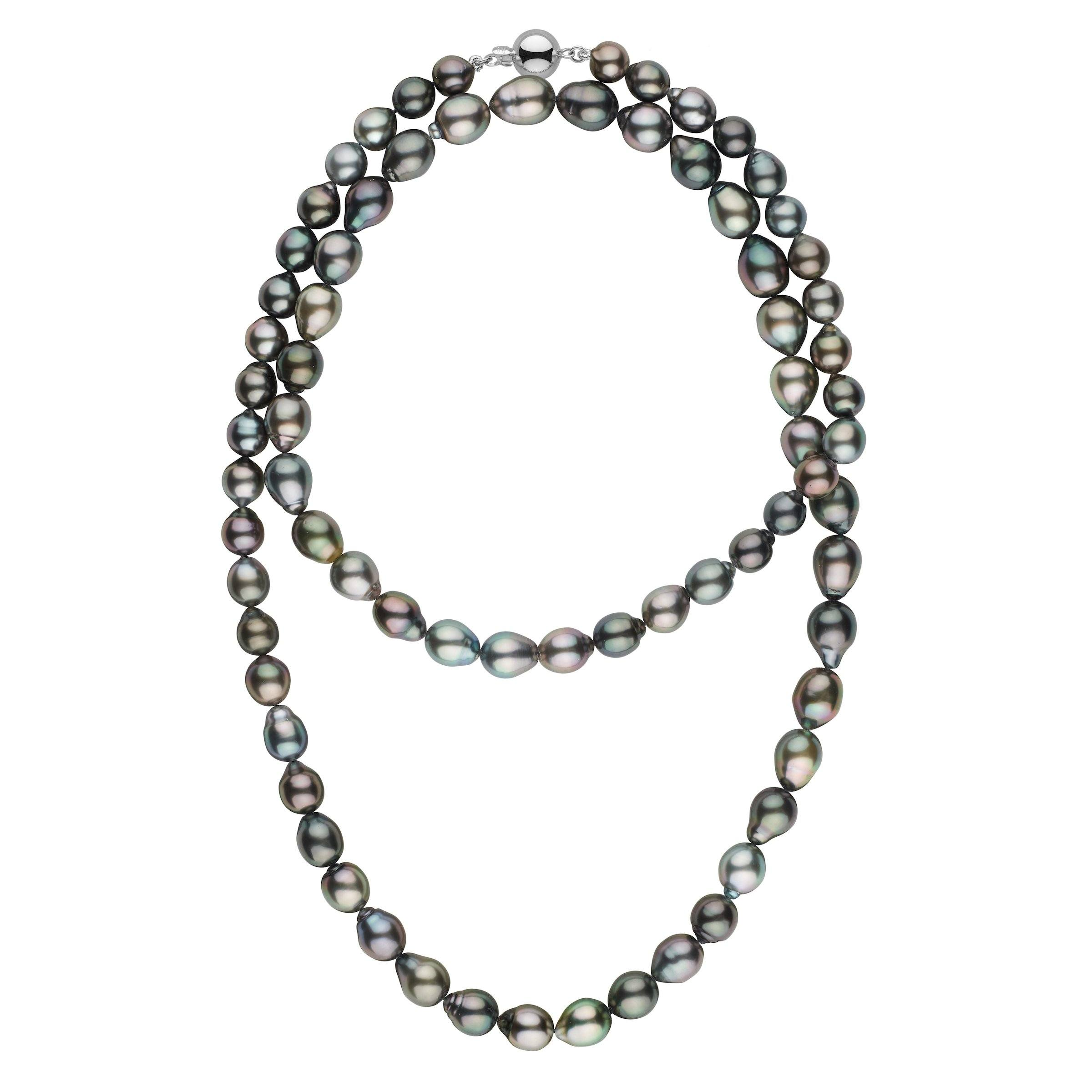 8.5-10.4 mm AAA Tahitian Drop Pearl Necklace - 35 Inches
