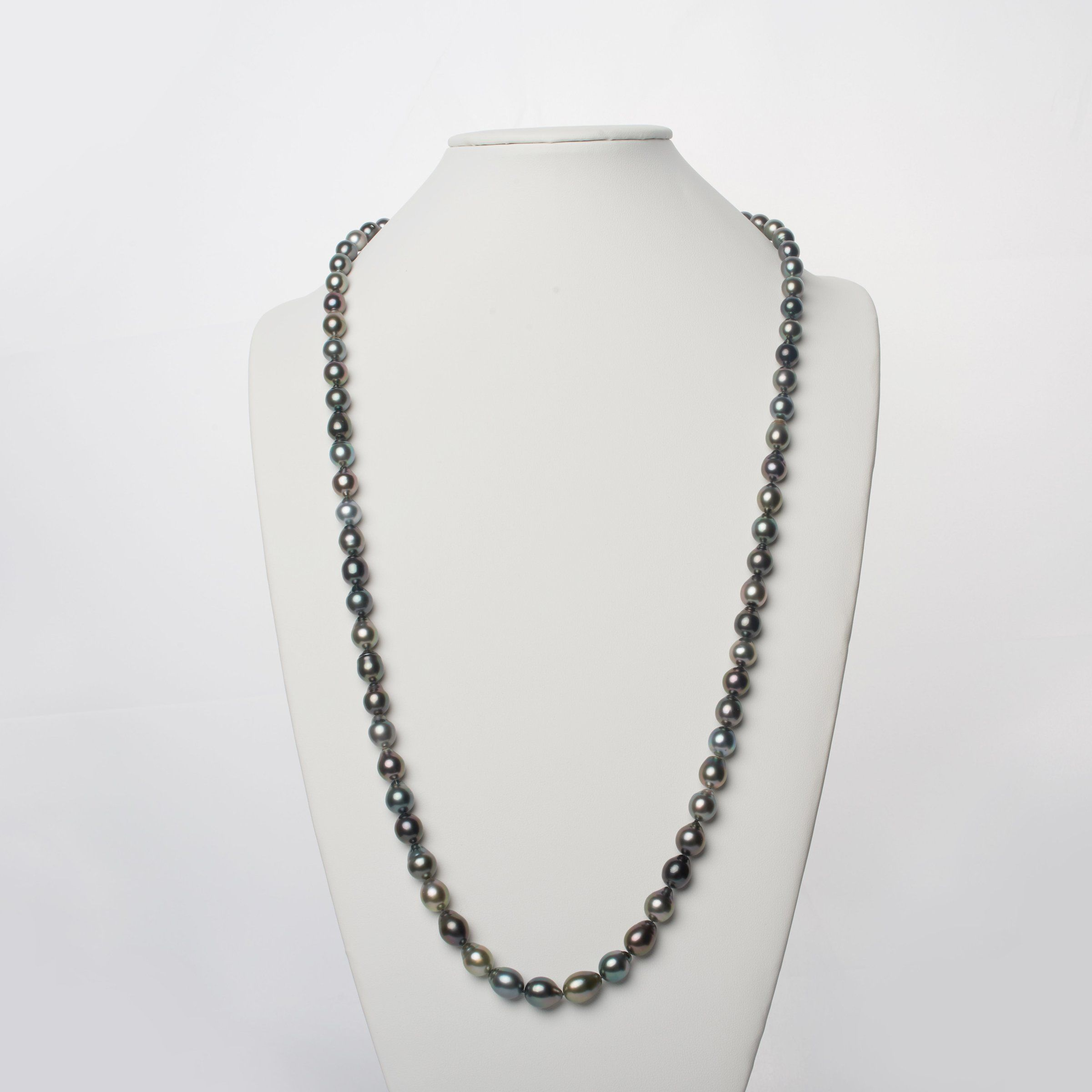 8.5-10.6 mm AAA Tahitian Drop Pearl Necklace - 35 Inches