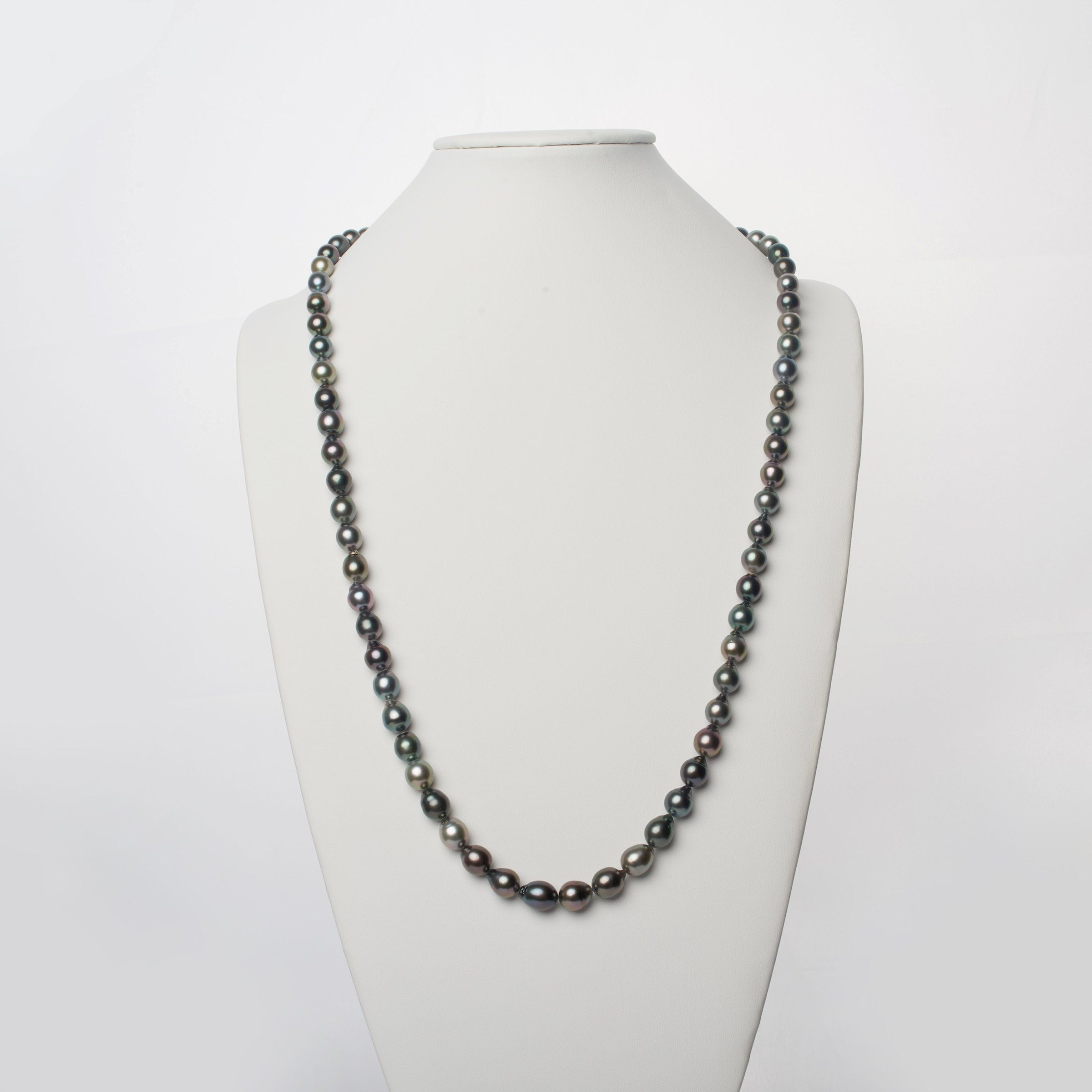 8.6-10.4 mm AAA Tahitian Drop Pearl Necklace - 35 Inches