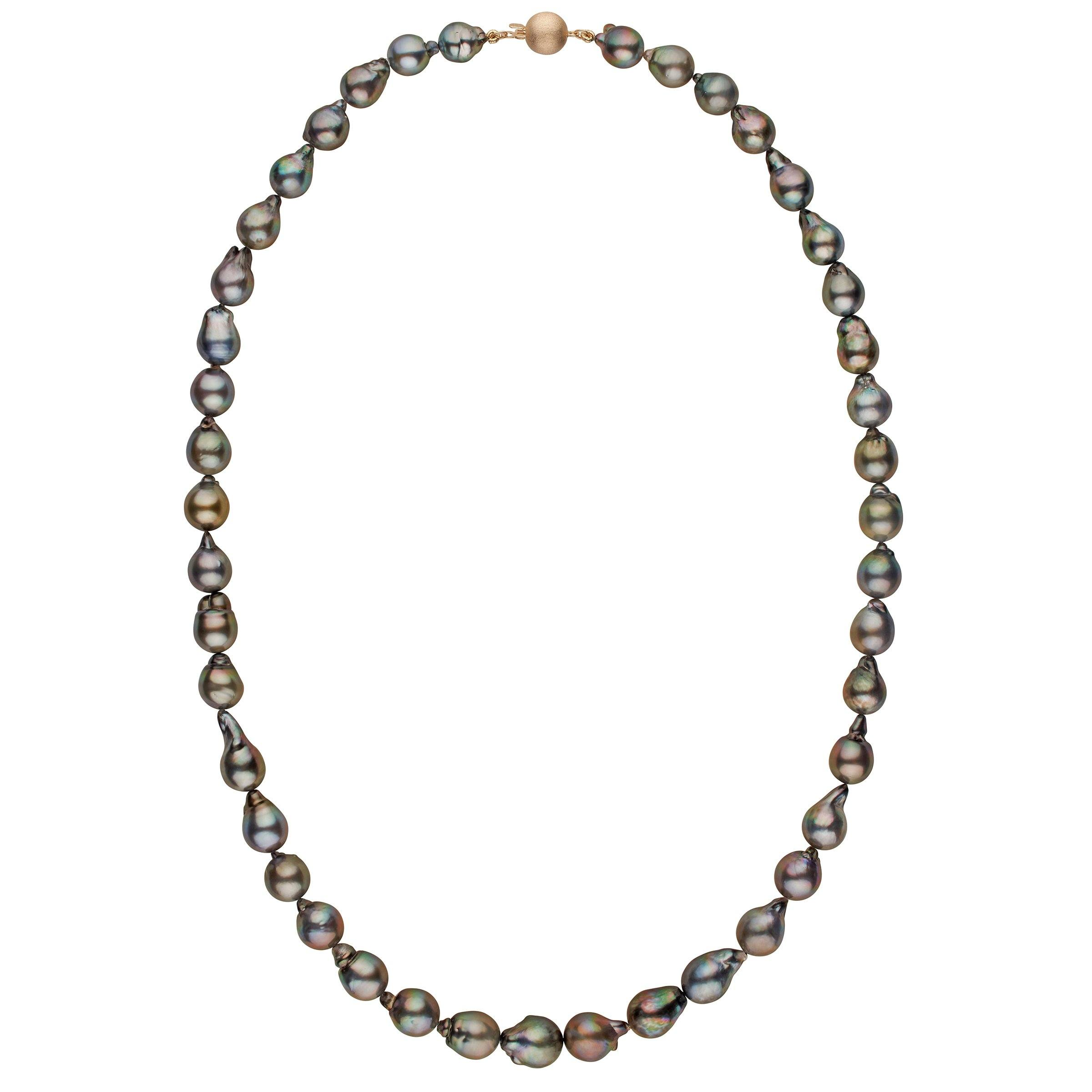 13.0-16.5 mm AA+/AAA Tahitian Baroque Pearl Necklace - 34 Inches