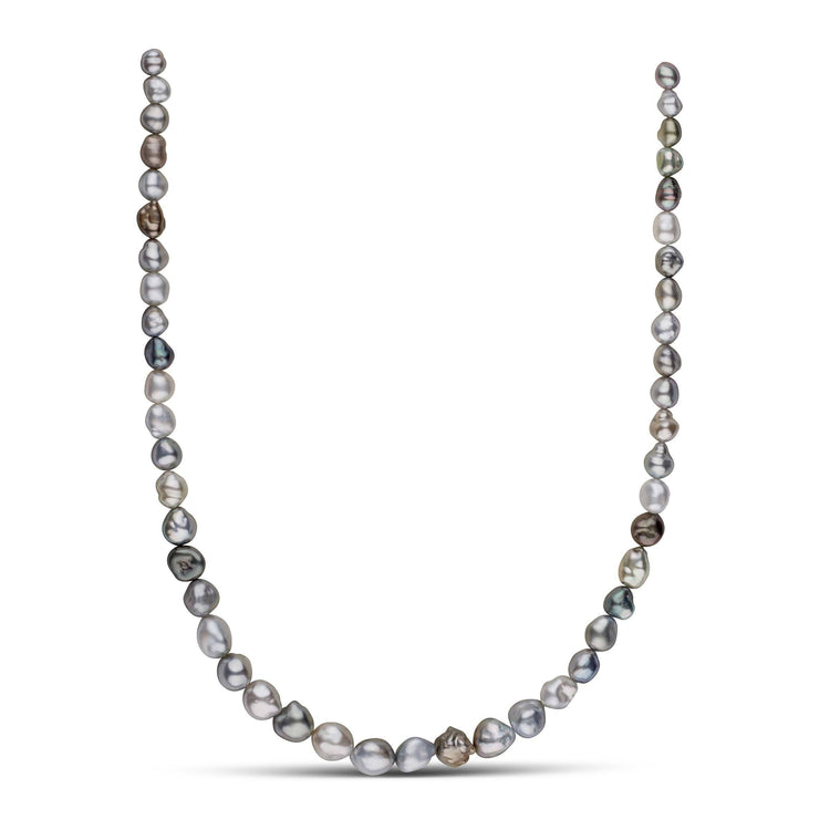 17-inch 6.2-10.1 mm Multicolor Keshi Tahitian Pearl Necklace