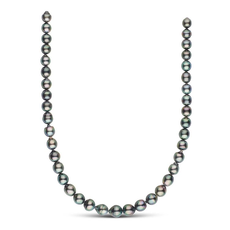 18-inch 8.2-10.6 mm AA+/AAA Baroque Tahitian Pearl Necklace
