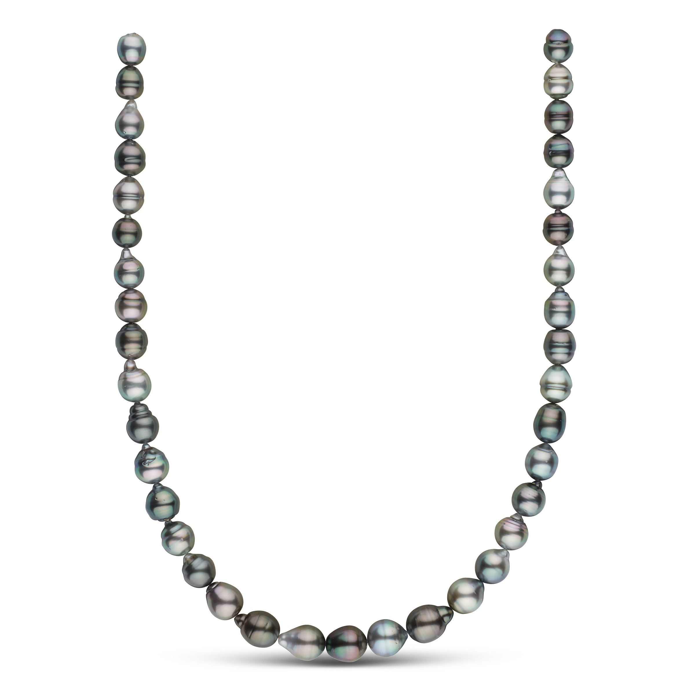 8.3-10.4 mm AAA Tahitian Baroque Pearl Necklace