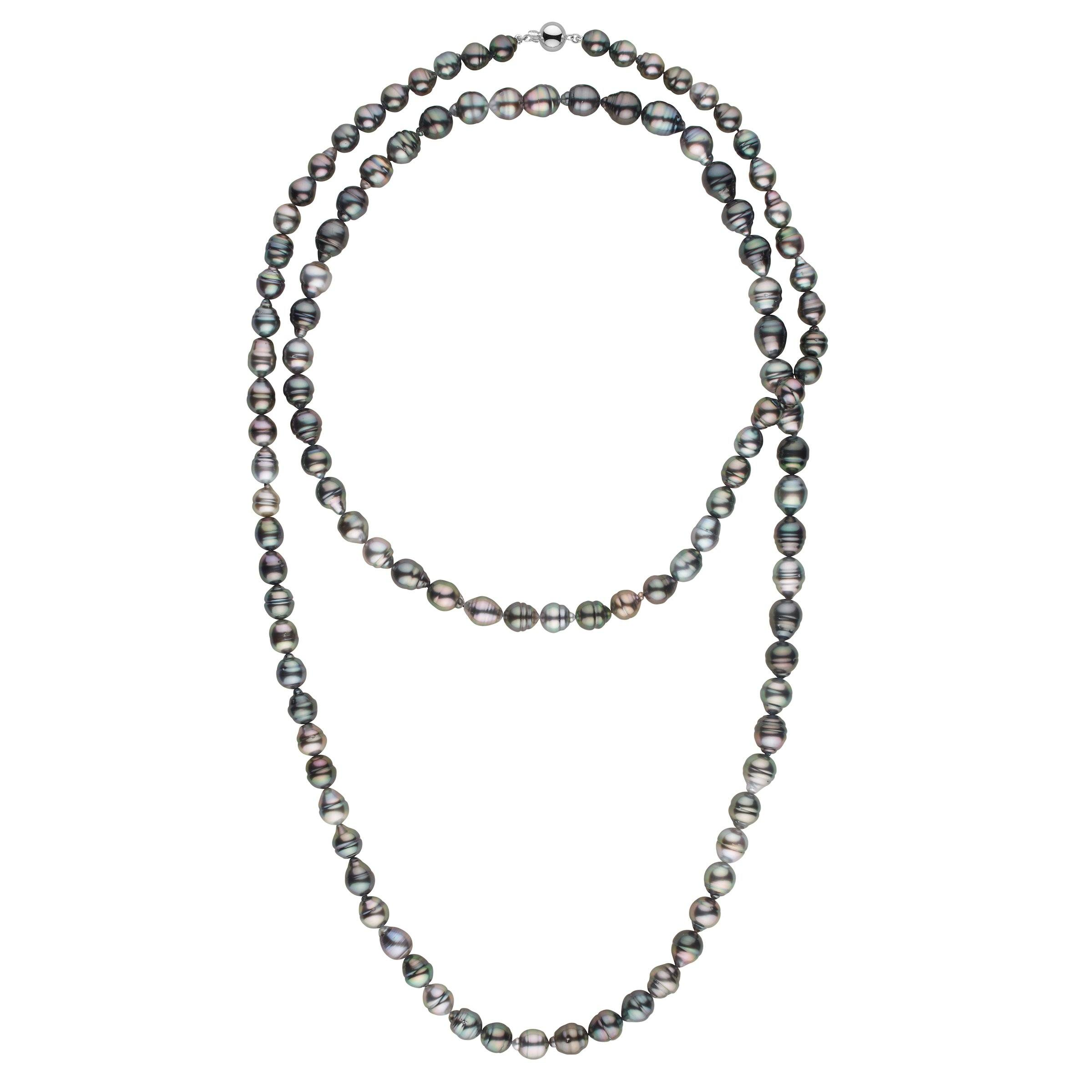 8.2-10.5 mm AA+/AAA Tahitian Baroque Pearl Necklace - 54 Inches