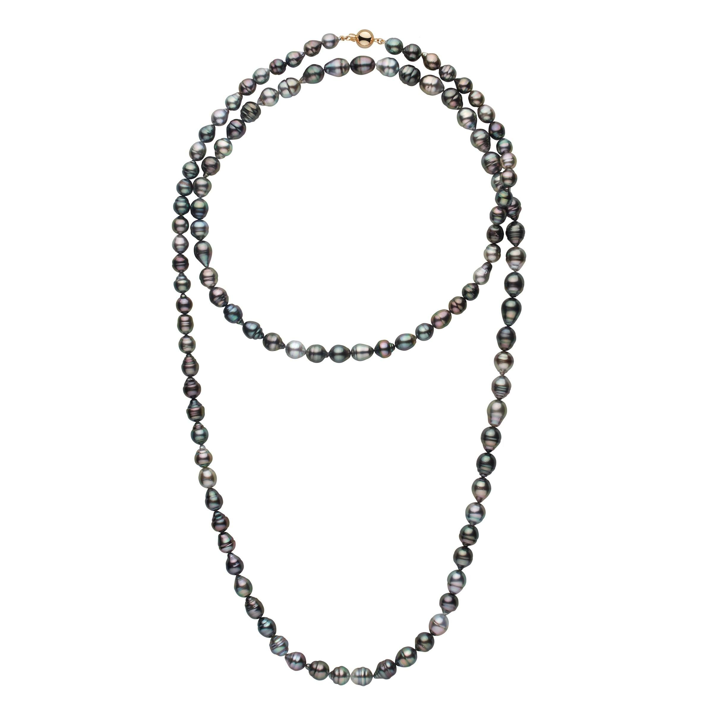 8.0-10.4 mm AA+/AAA Tahitian Baroque Pearl Necklace - 54 Inches