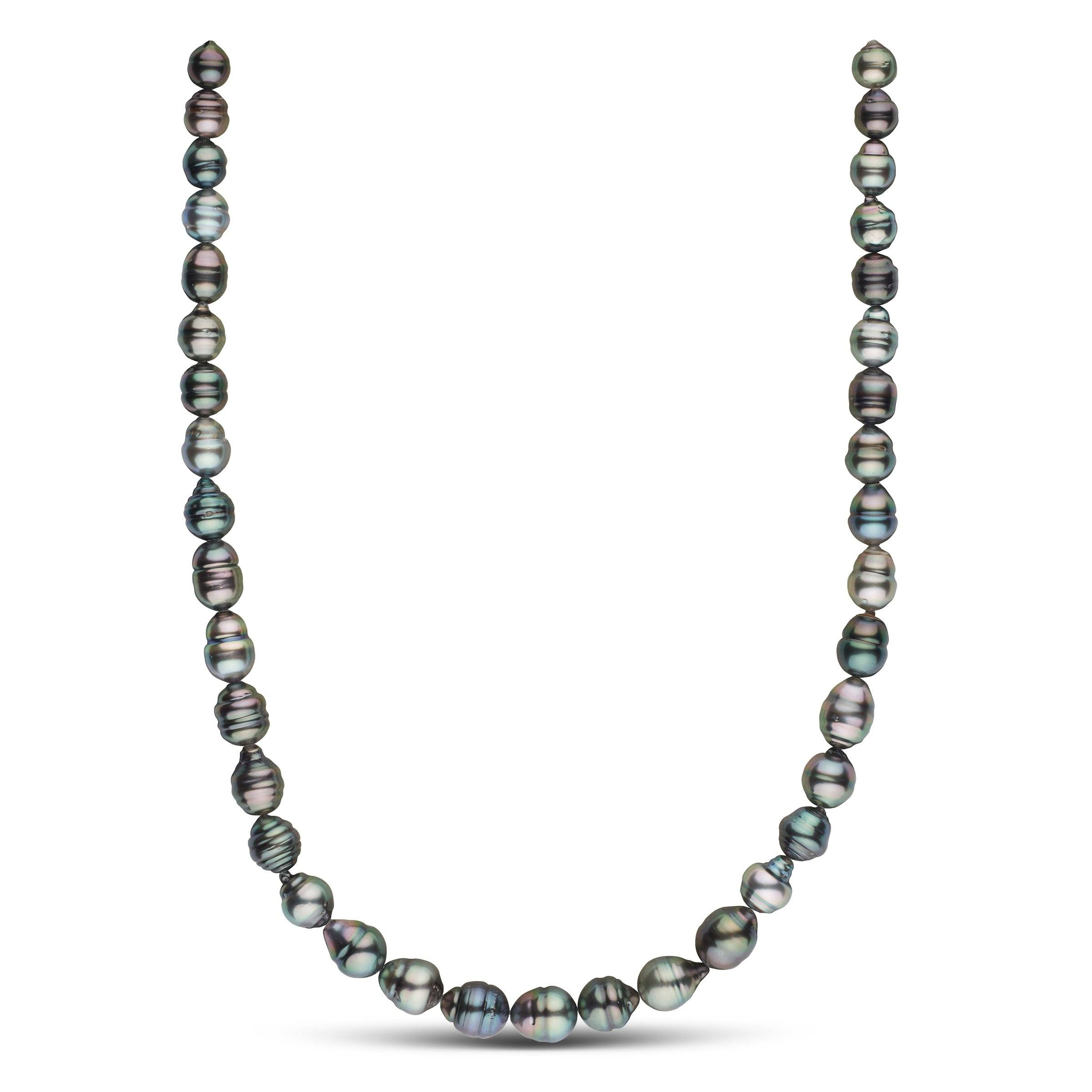 8.0-10.4 mm AA+ Tahitian Baroque Pearl Necklace