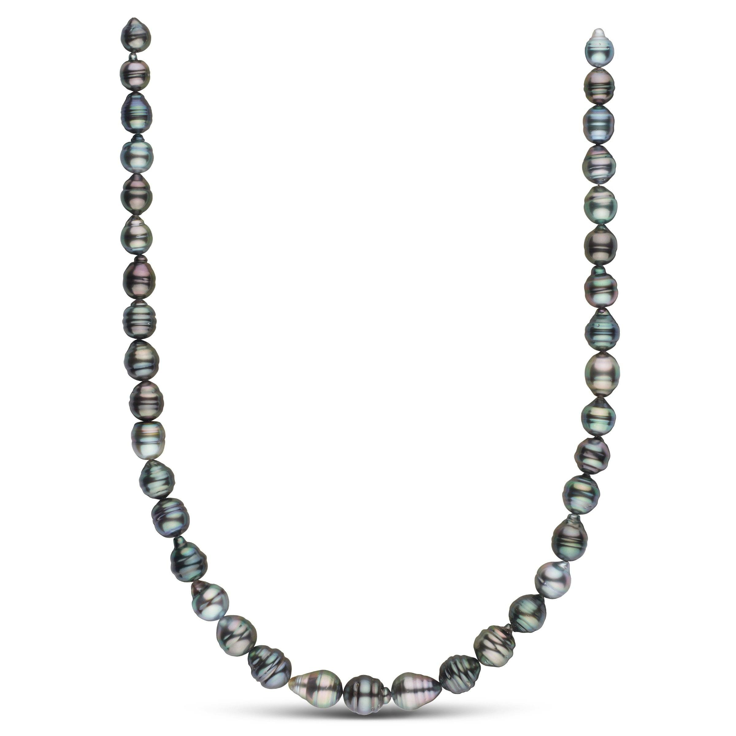 8.2-10.4 mm AA+ Tahitian Baroque Pearl Necklace