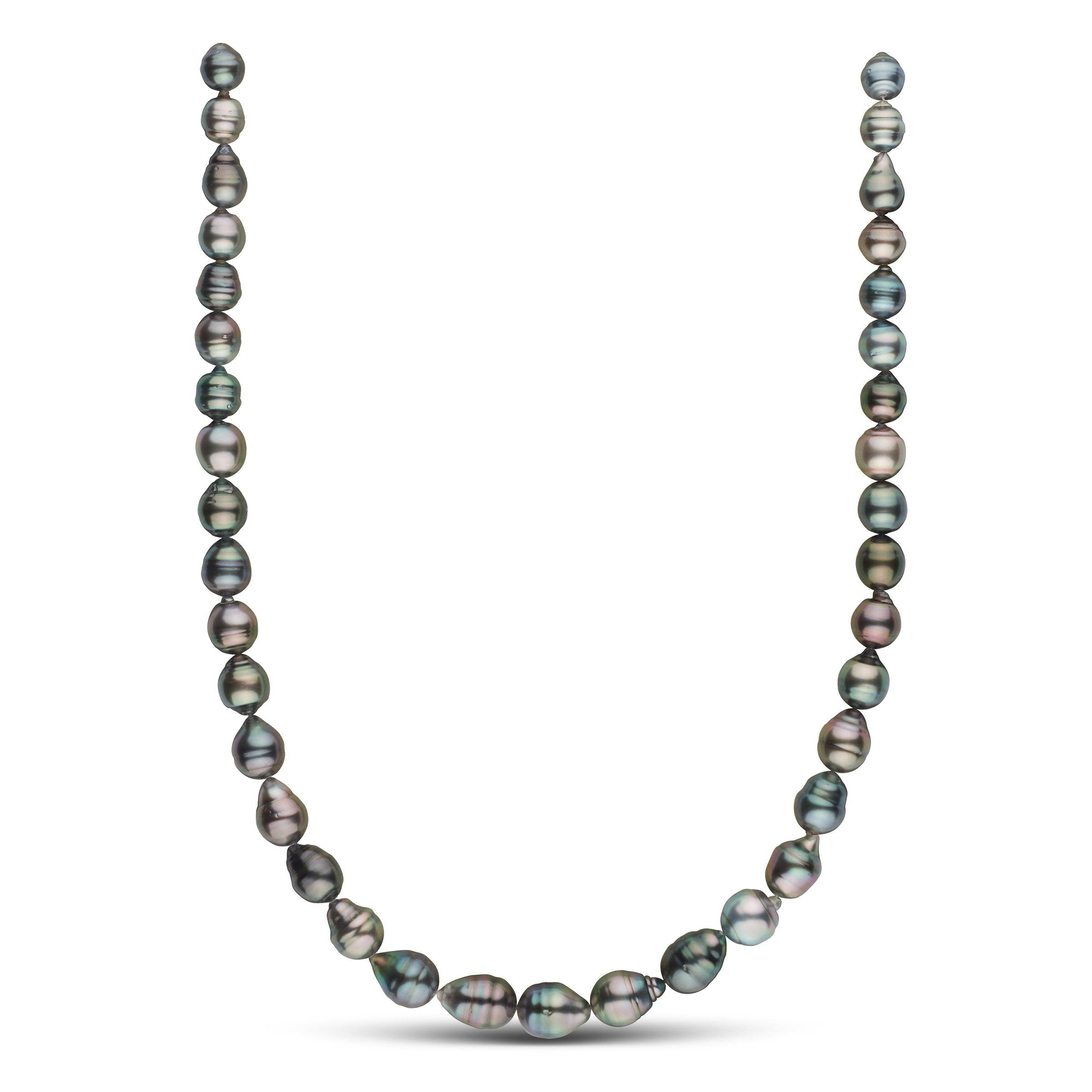 8.2-10.5 mm AAA Tahitian Baroque Pearl Necklace