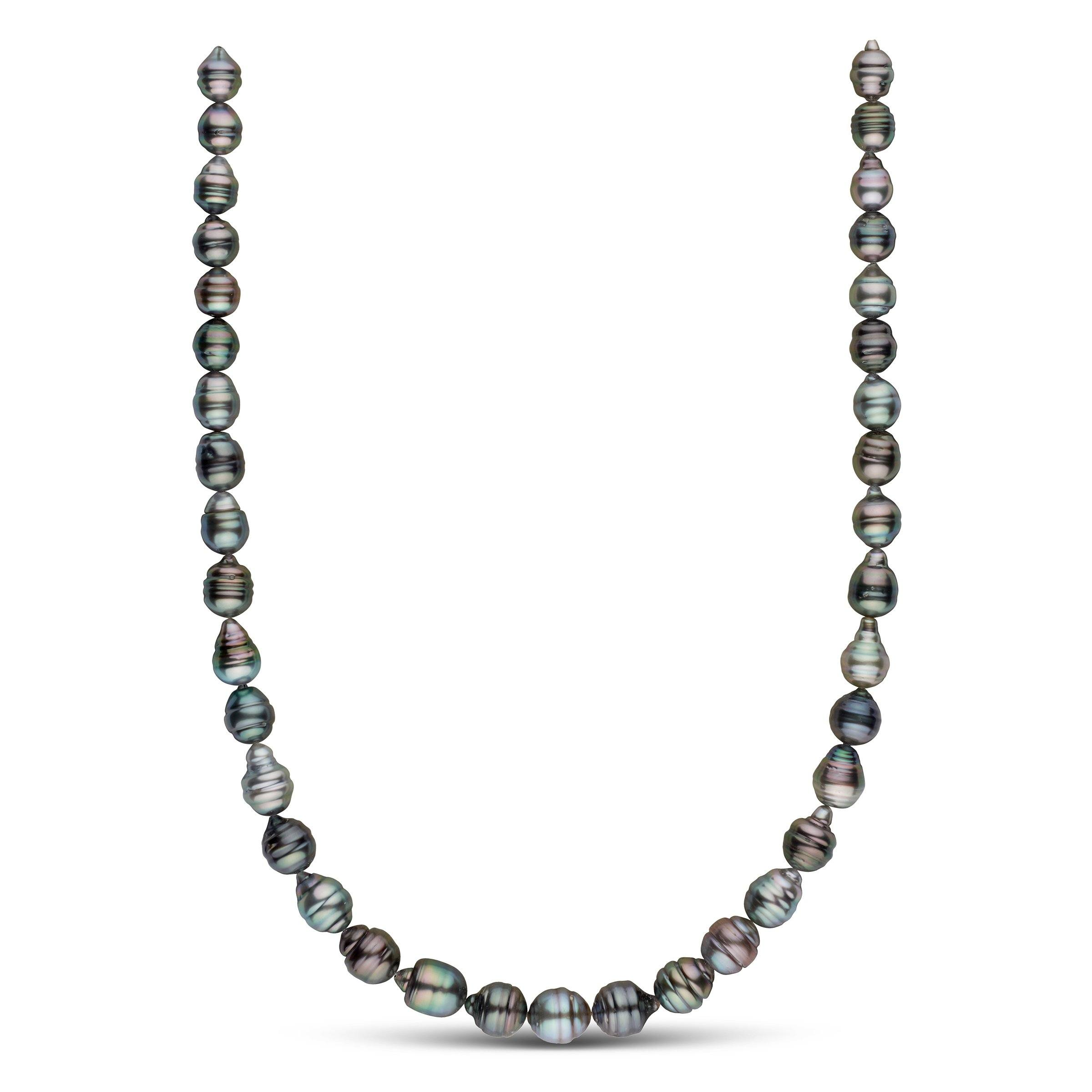 8.0-10.5 mm AA+ Tahitian Baroque Pearl Necklace