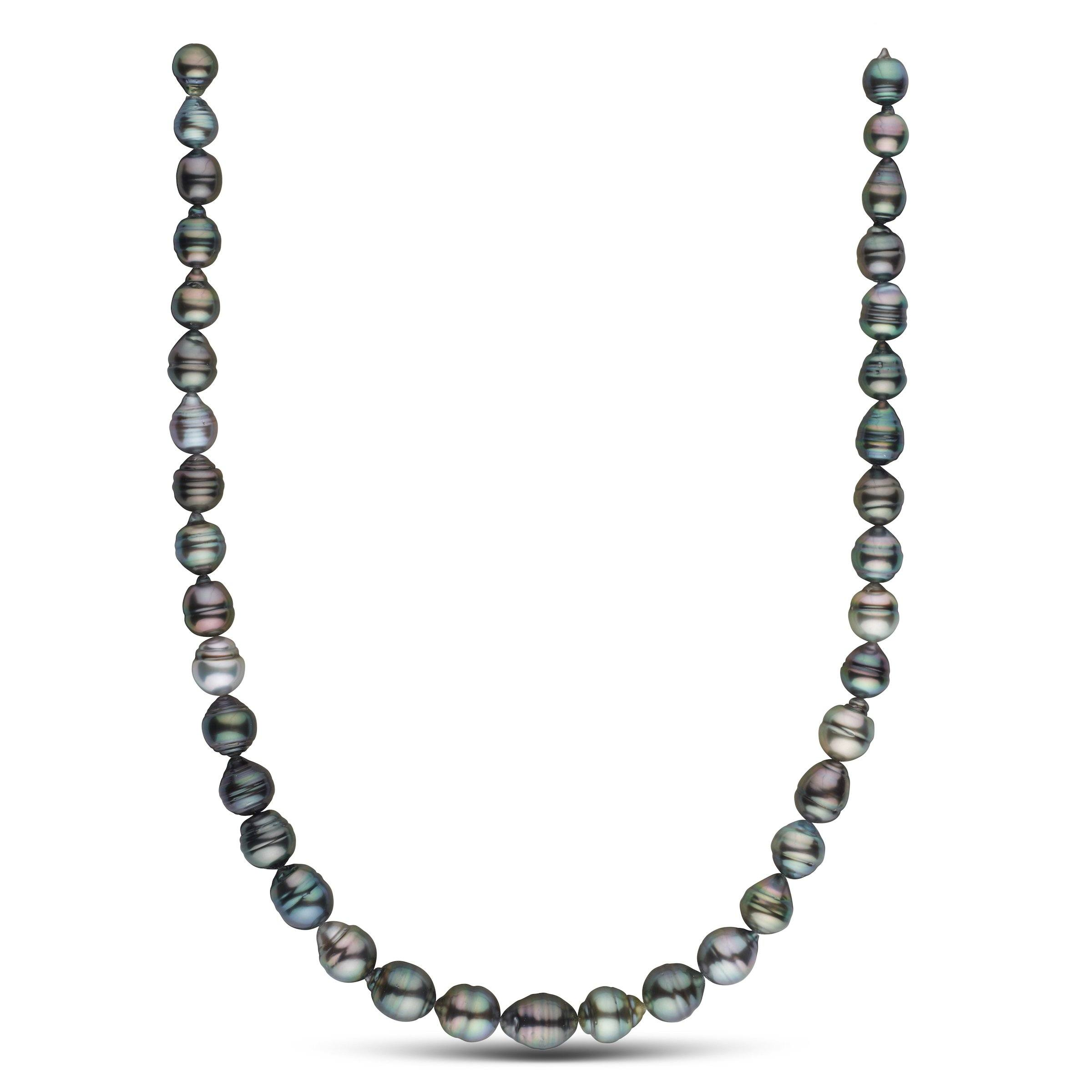 8.0-10.1 mm AA+/AAA Tahitian Baroque Pearl Necklace