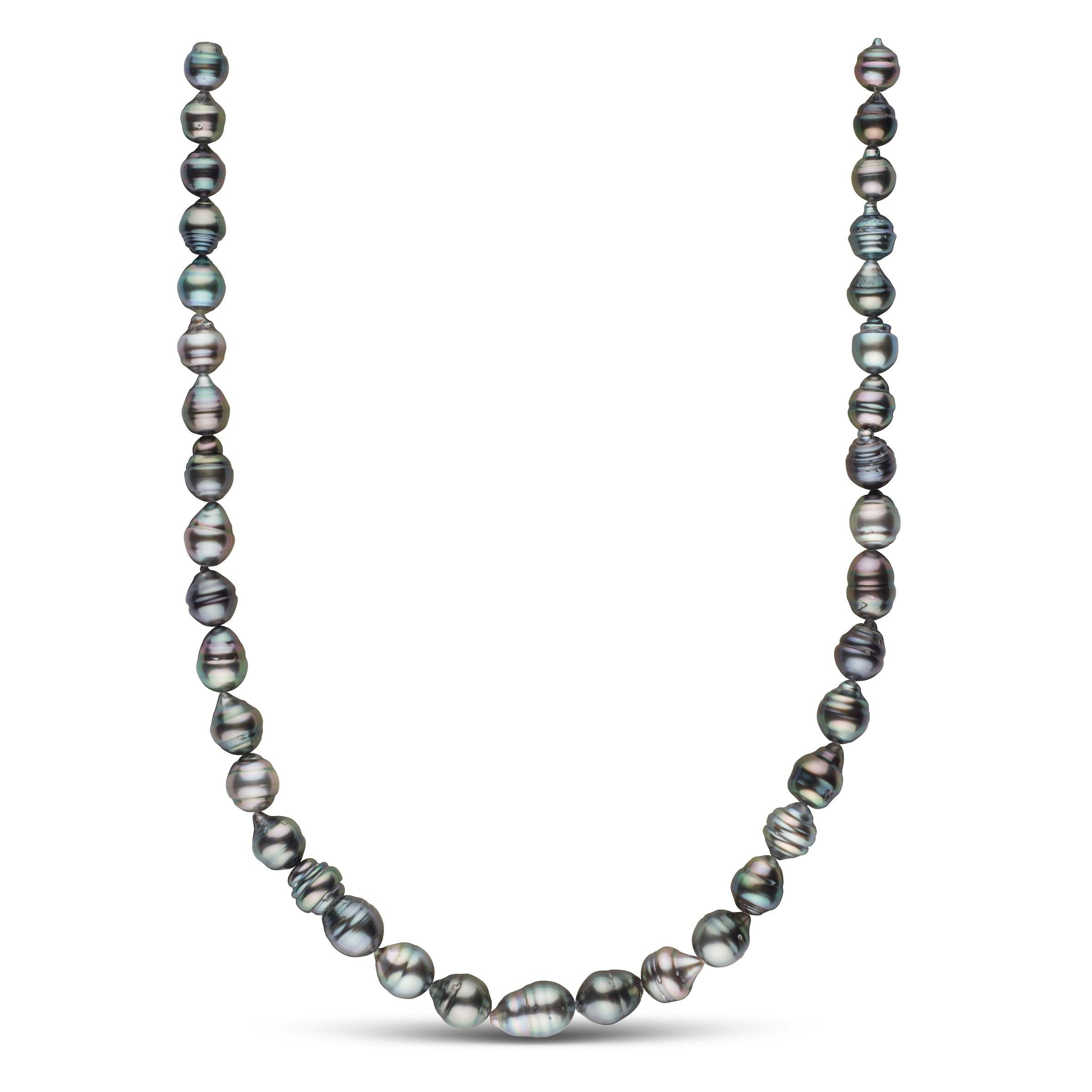 8.2-10.2 mm AA+ Tahitian Baroque Pearl Necklace