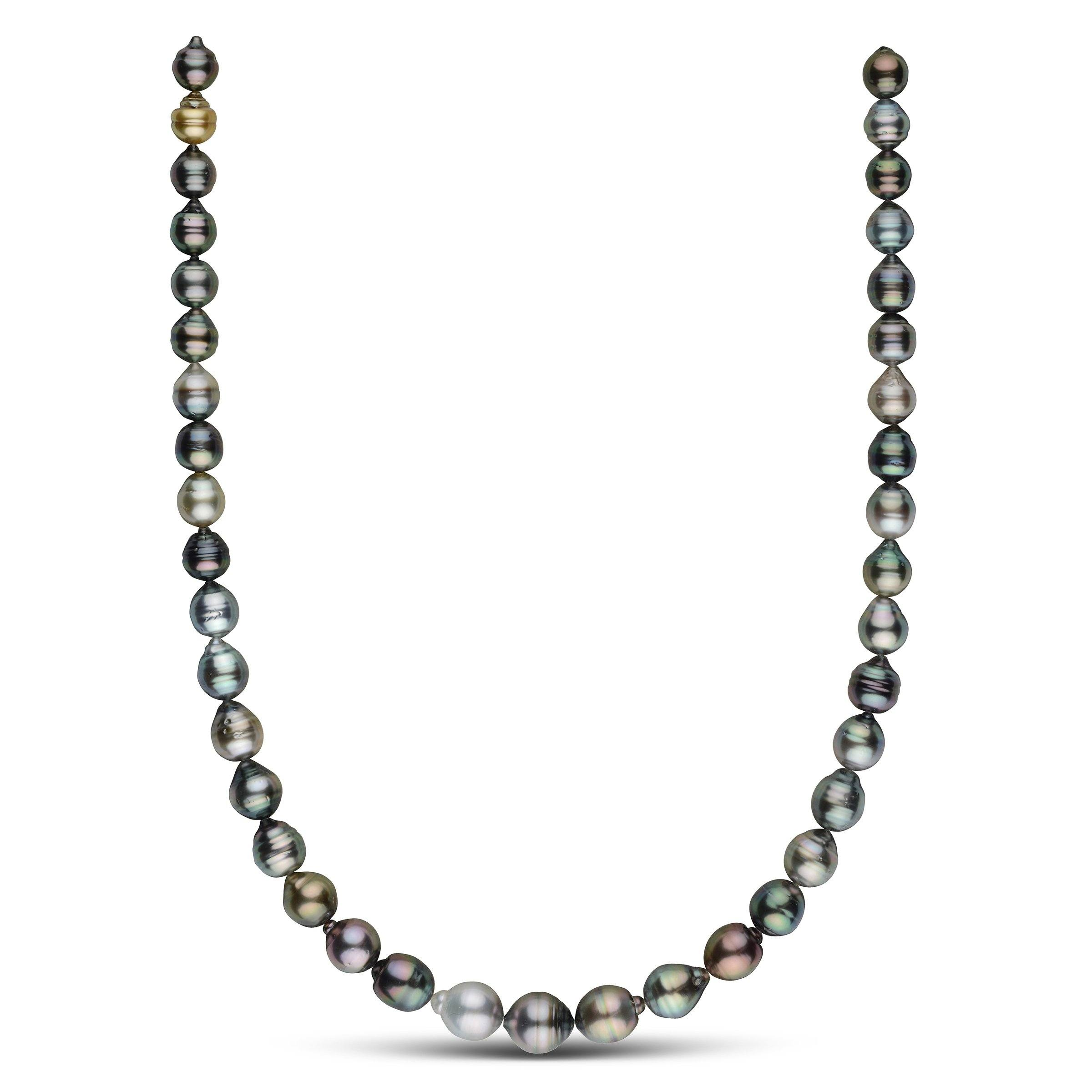 8.0-10.8 mm AA+/AAA Tahitian Baroque Pearl Necklace