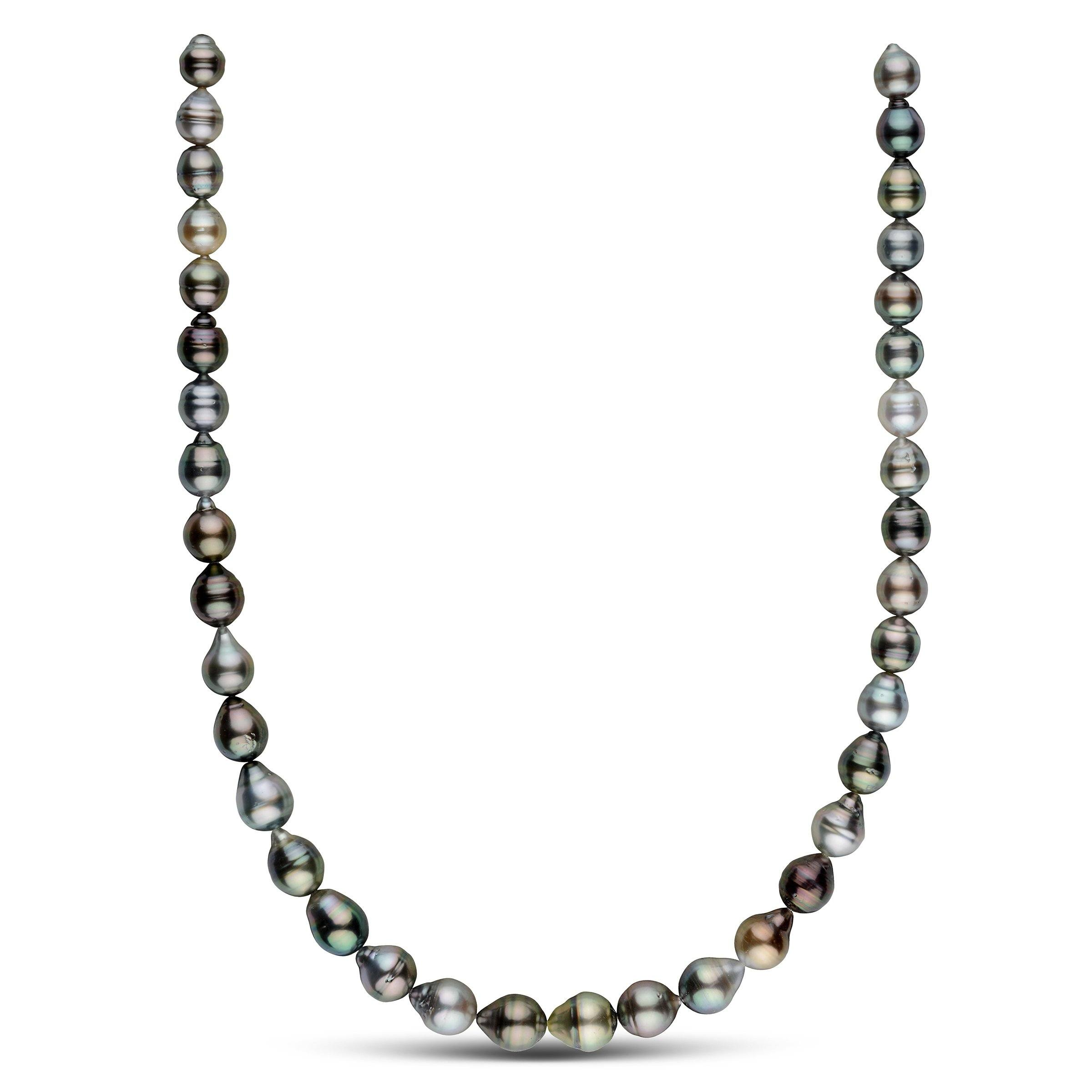 8.0-10.4 mm AA+/AAA Tahitian Baroque Pearl Necklace
