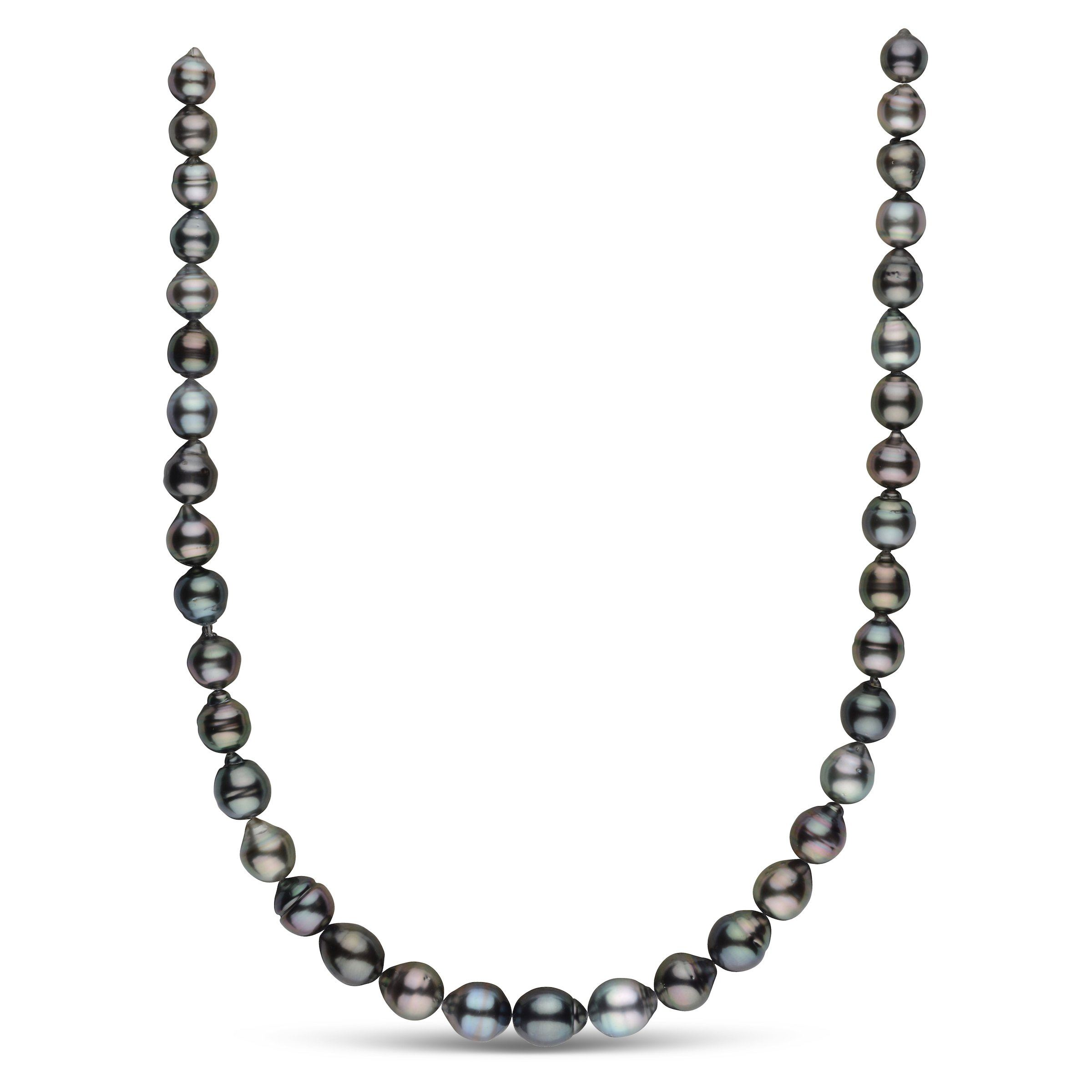 8.2-10.4 mm AAA Tahitian Baroque Pearl Necklace
