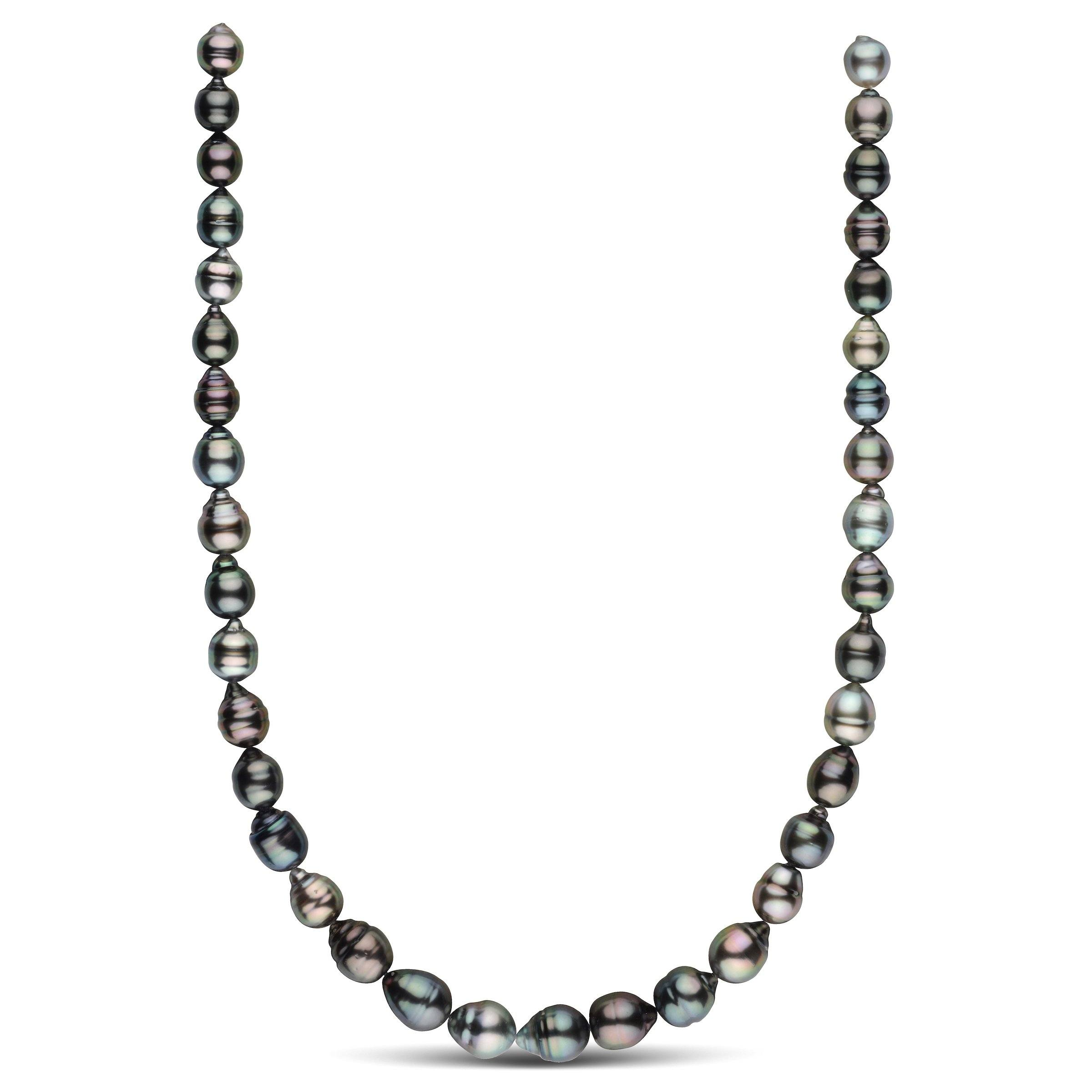 8.8-10.8 mm AAA Tahitian Baroque Pearl Necklace