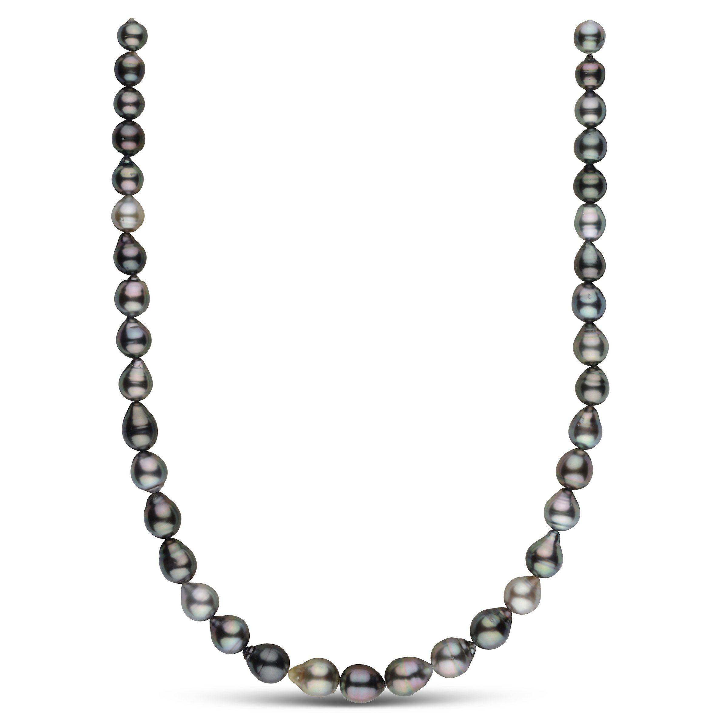 8.0-10.3 mm AAA Tahitian Baroque Pearl Necklace