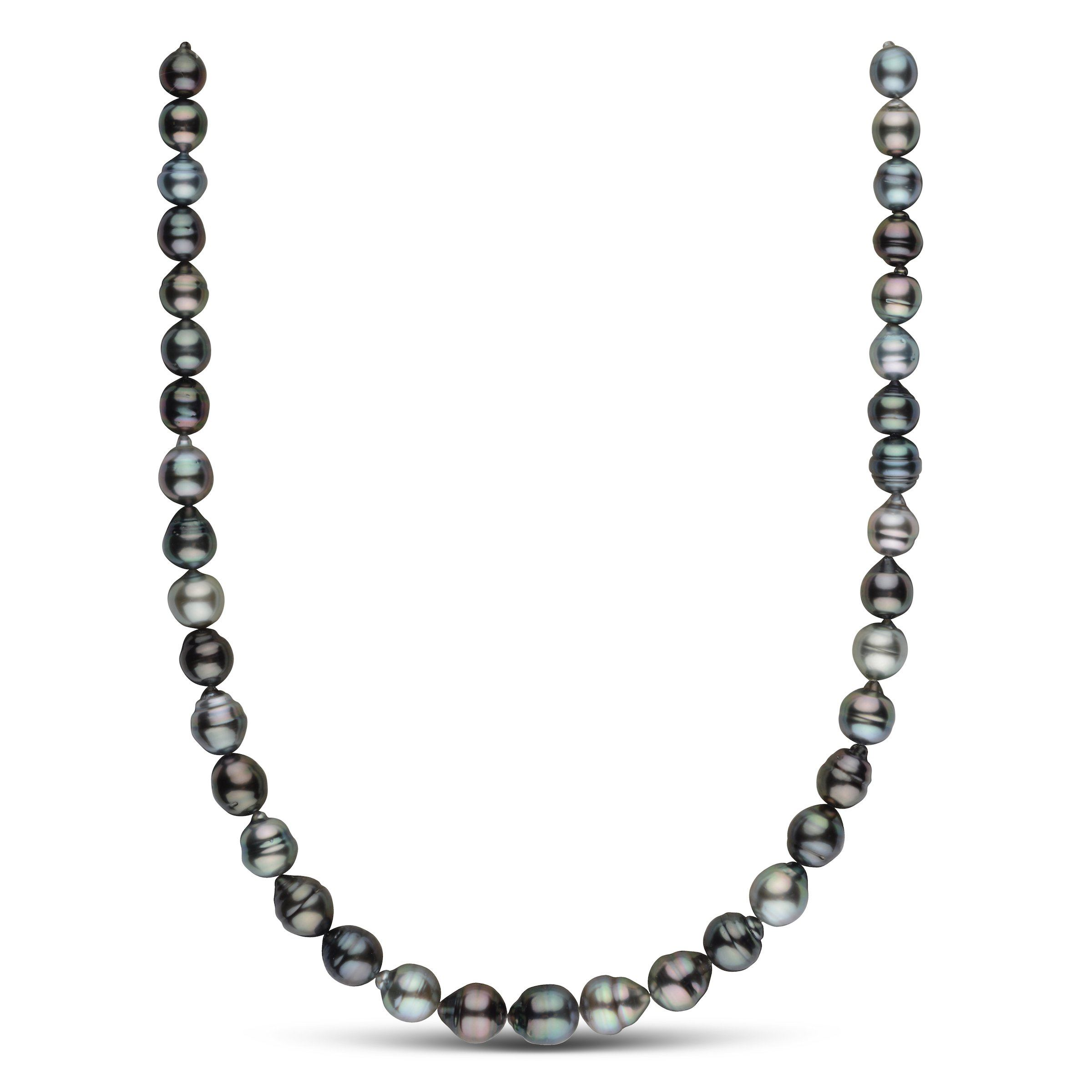 8.0-10.3 mm AA+/AAA Tahitian Baroque Pearl Necklace