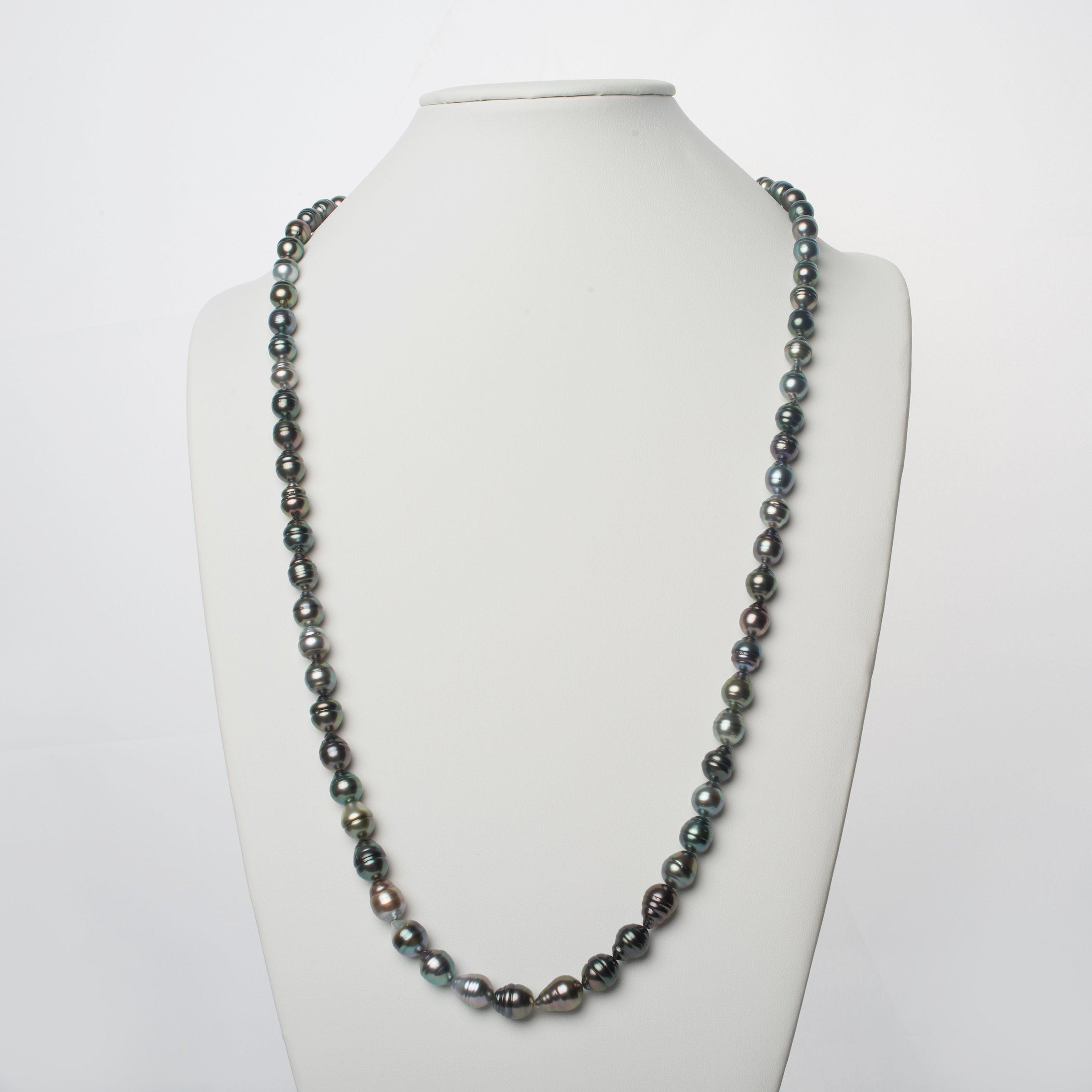 8.0-10.6 mm AA+/AAA Tahitian Baroque Pearl Necklace - 35 Inches