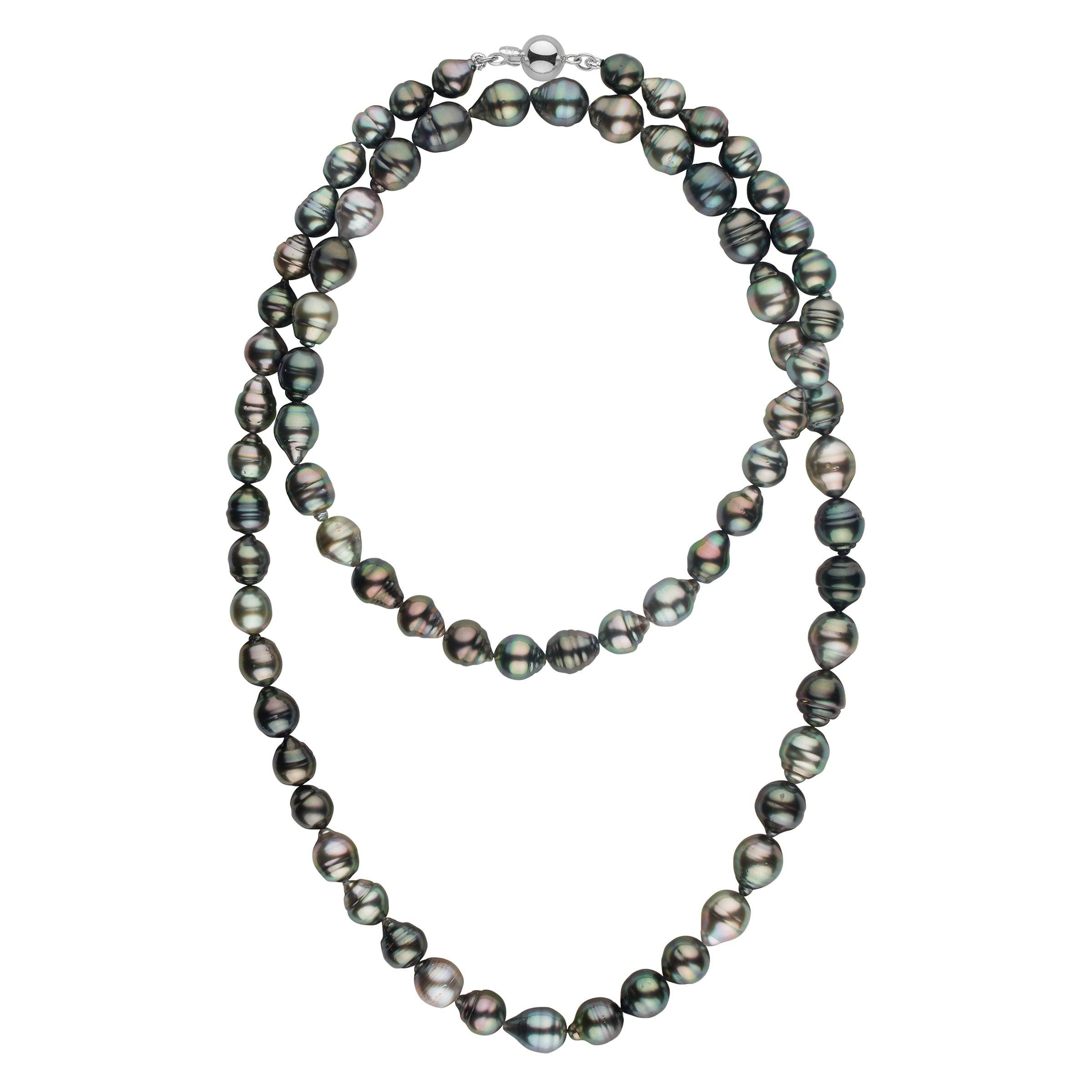 8.4-10.5 mm AA+/AAA Tahitian Baroque Pearl Necklace - 35 Inches