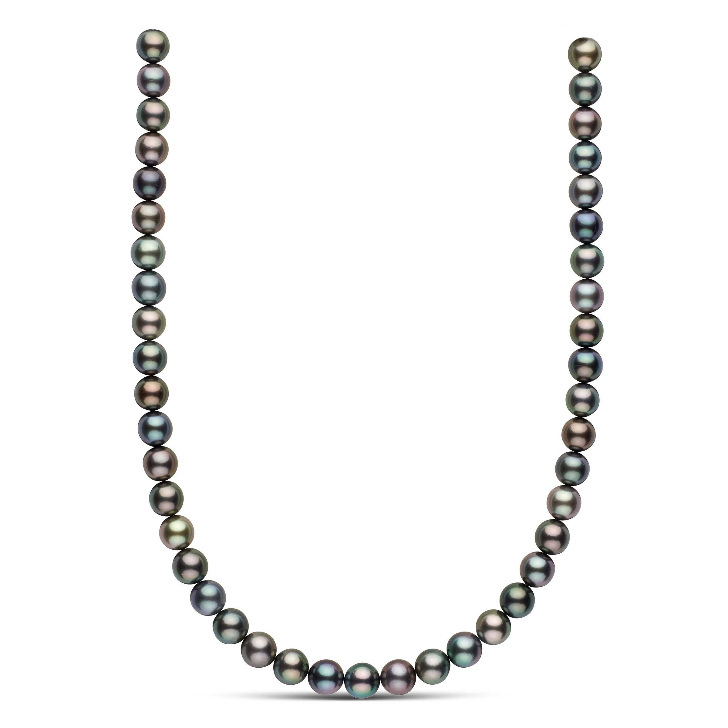 18-inch 9.3-9.8 mm AAA Round Multicolor Tahitian Pearl Necklace