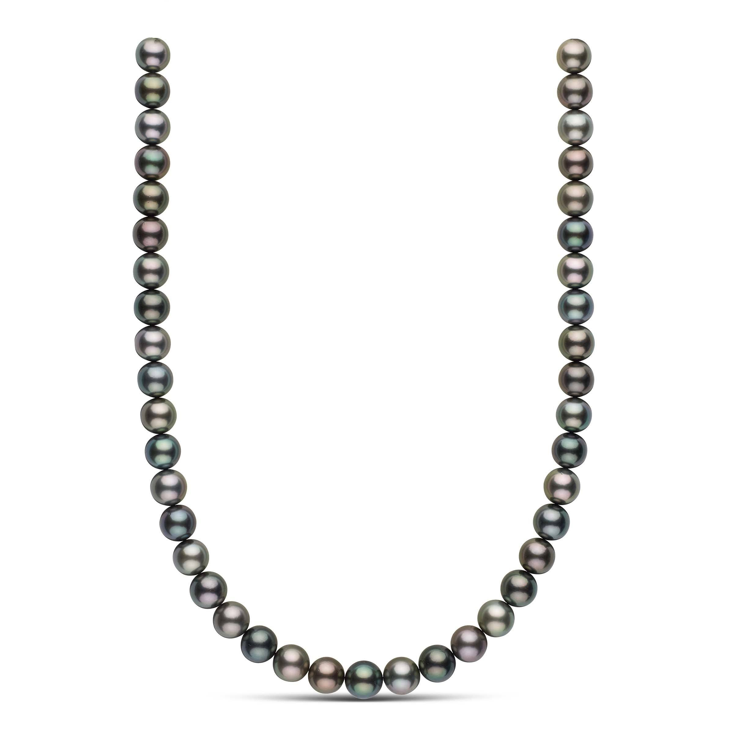18-inch 10.0-10.8 mm AAA Round Multicolor Tahitian Pearl Necklace