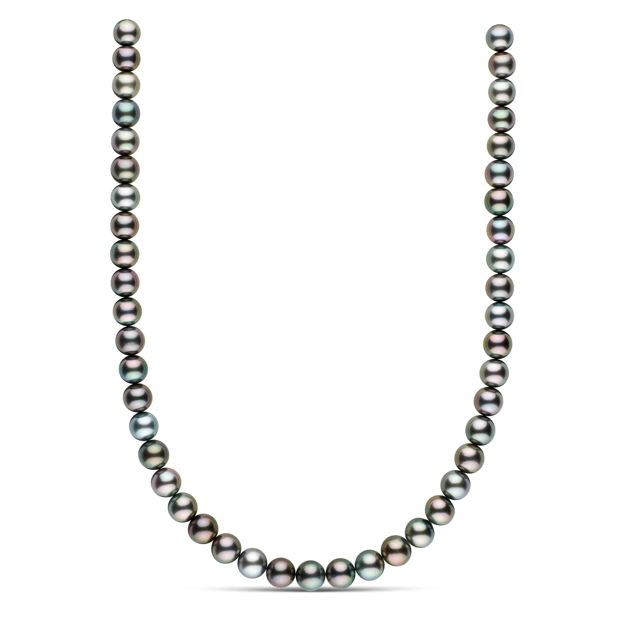 18-inch 9.0-9.8 mm AAA Round Tahitian Pearl Necklace