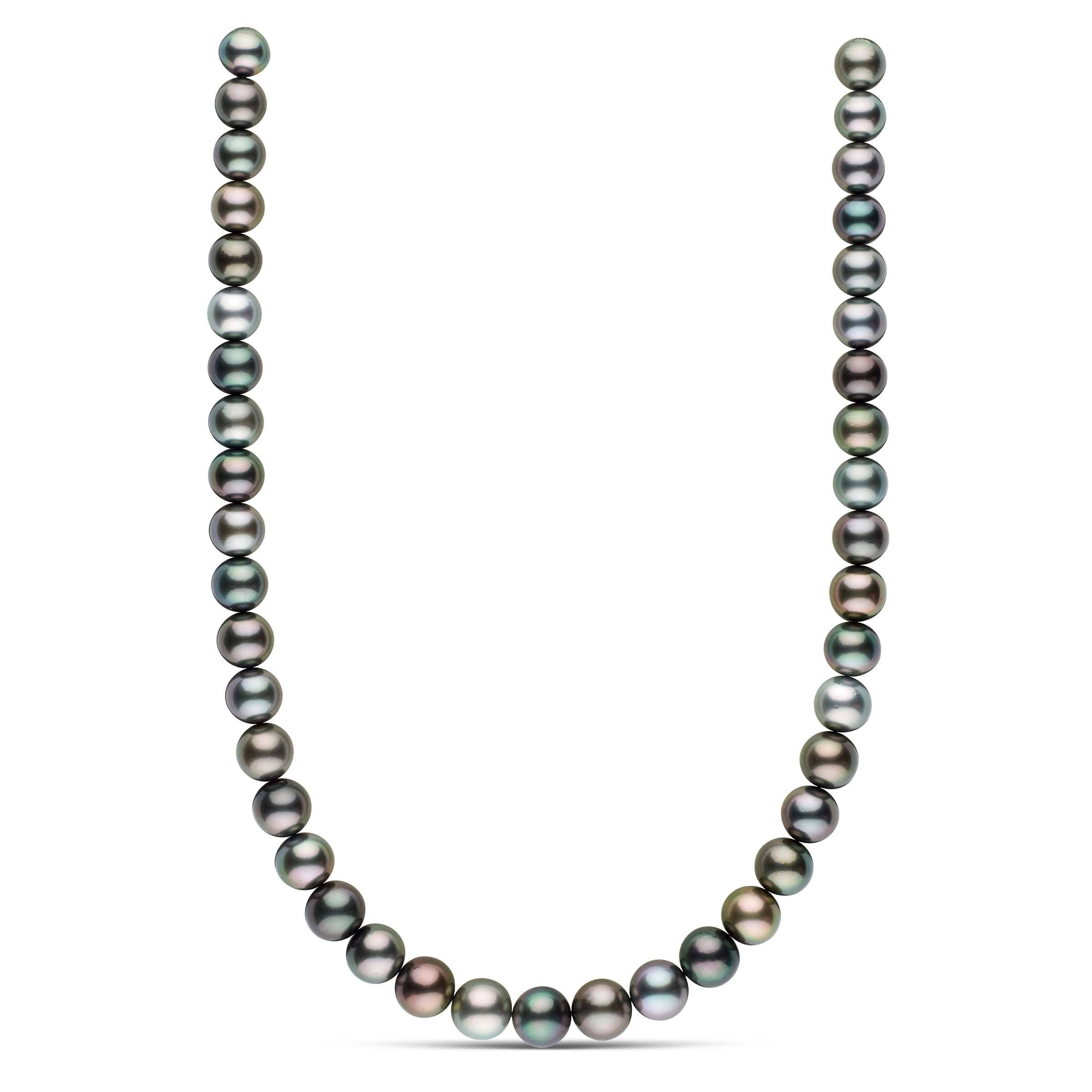 18-inch 10.0-11.7 mm AAA Round Tahitian Pearl Necklace