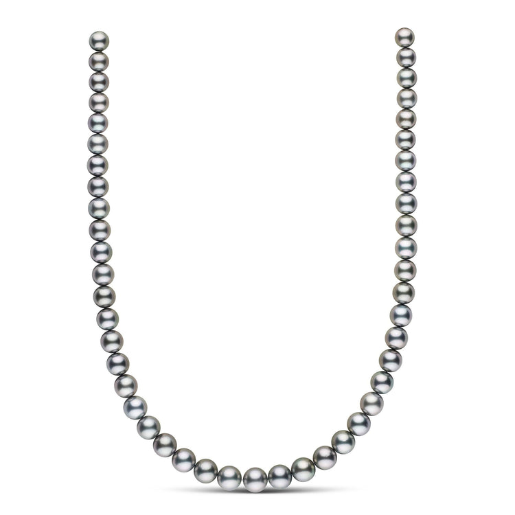 18-inch 8.0-9.9 mm AA+/AAA Round Tahitian Pearl Necklace