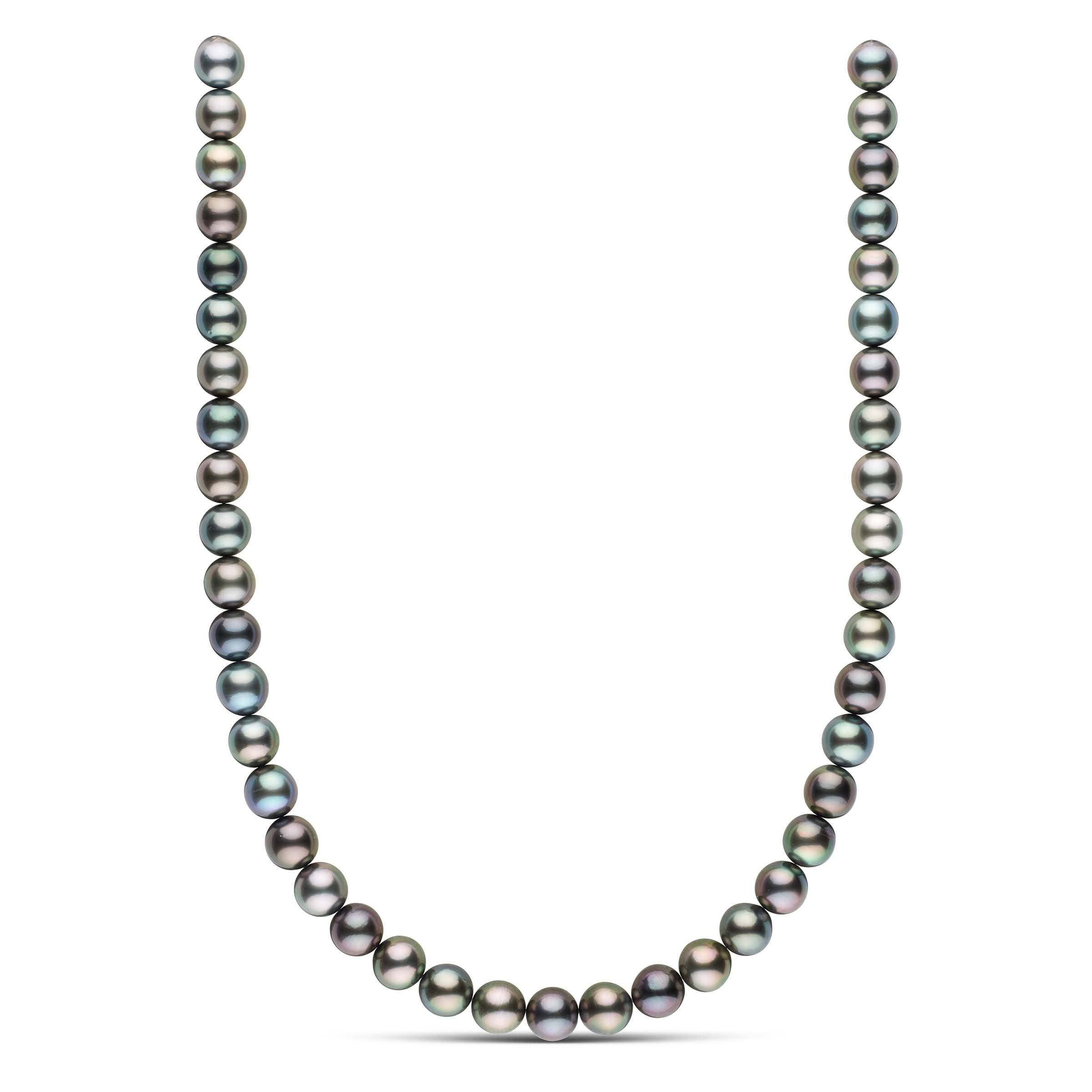 18-inch 9.4-9.9 mm AA+/AAA Round Tahitian Pearl Necklace