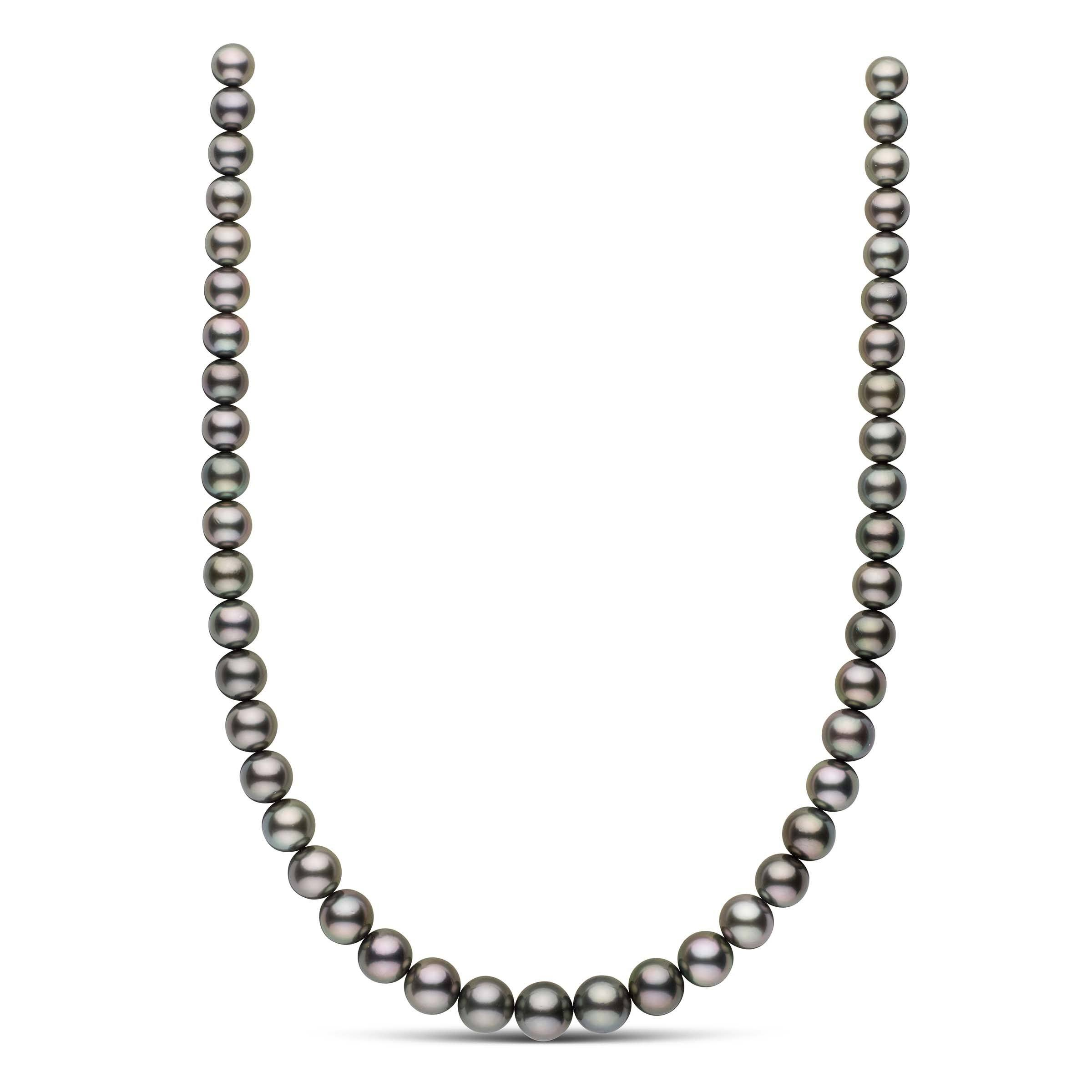 18-inch 8.0-10.8 mm AAA Round Tahitian Pearl Necklace