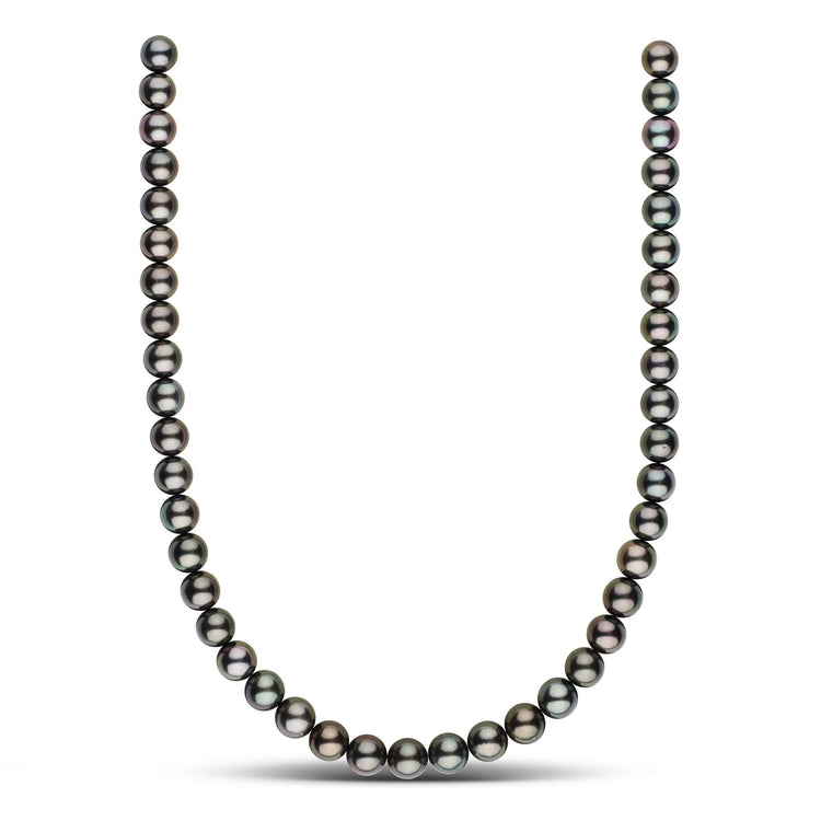 18-inch 9.0-9.9 mm AAA Round Tahitian Pearl Necklace