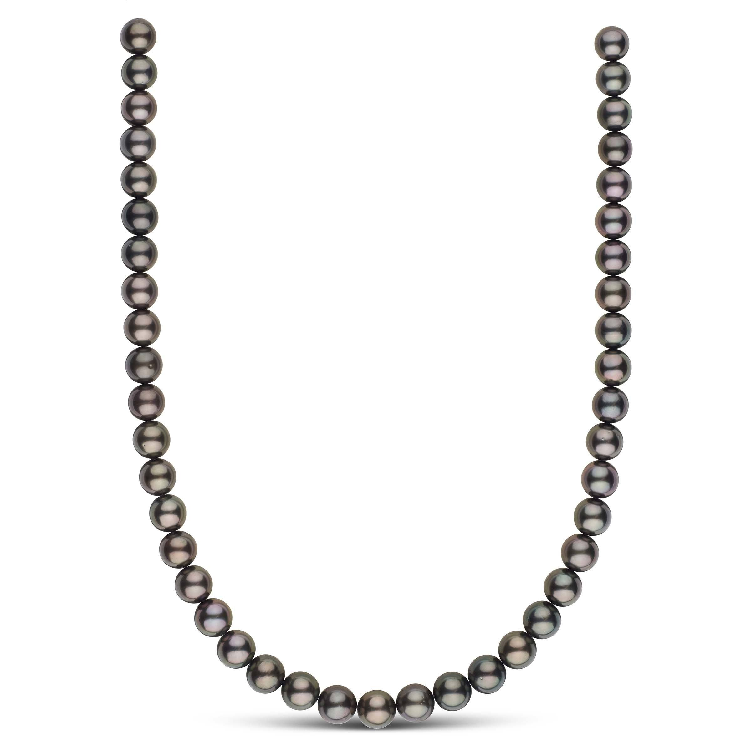 18-inch 9.0-9.9 mm AA+/AAA Round Tahitian Pearl Necklace