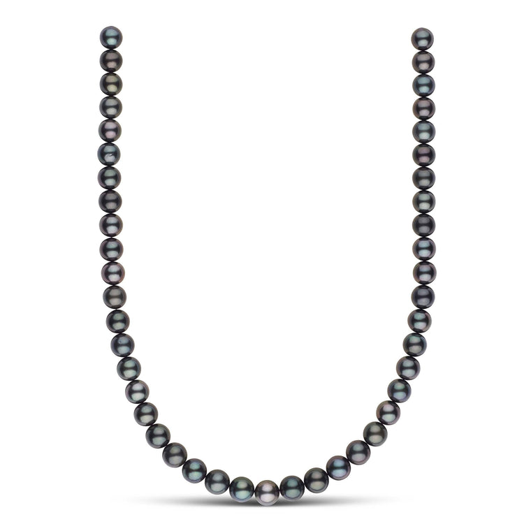 18-inch 8.8-9.8 mm AA+/AAA Round Tahitian Pearl Necklace