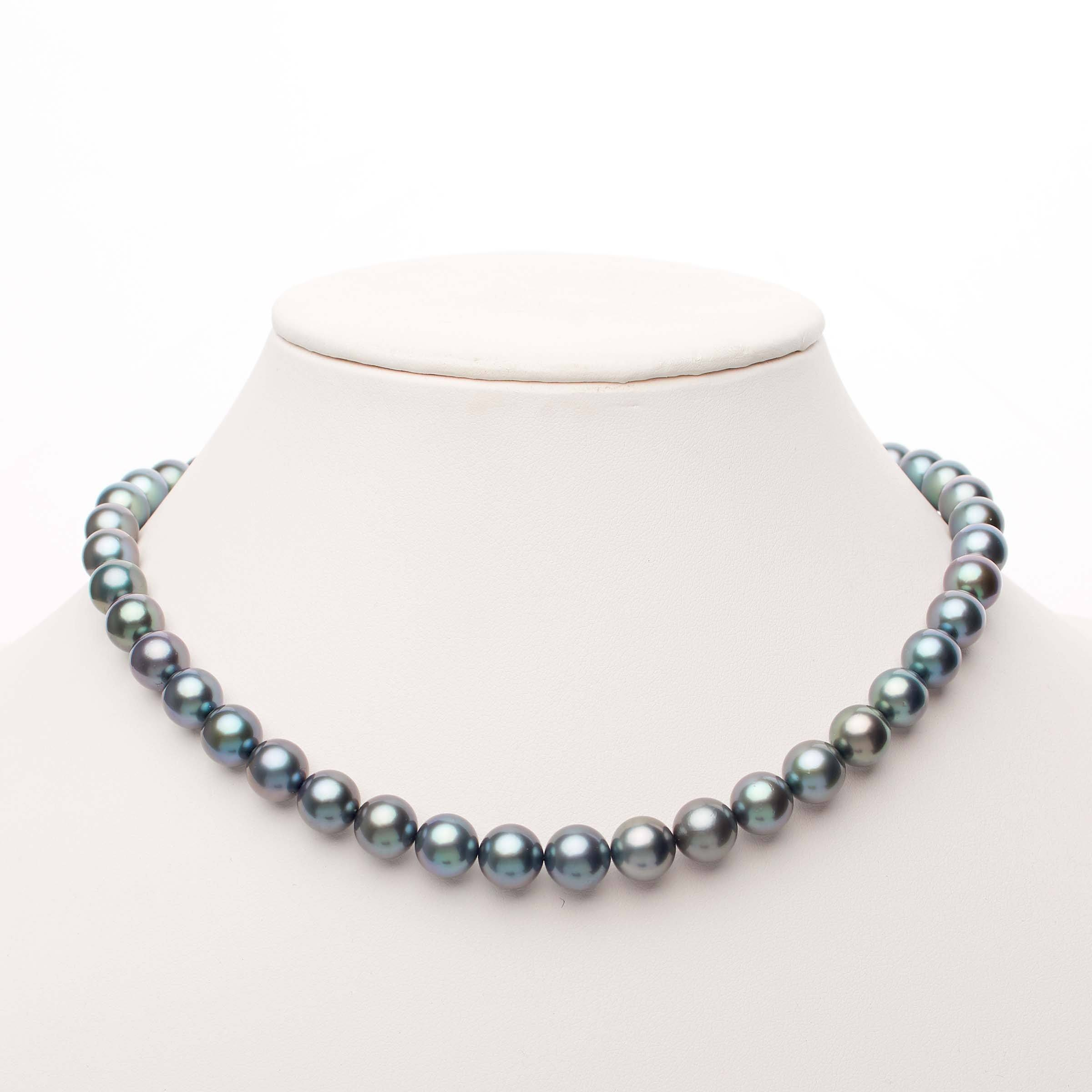 18-inch 8.1-9.9 mm AAA Round Tahitian Pearl Necklace