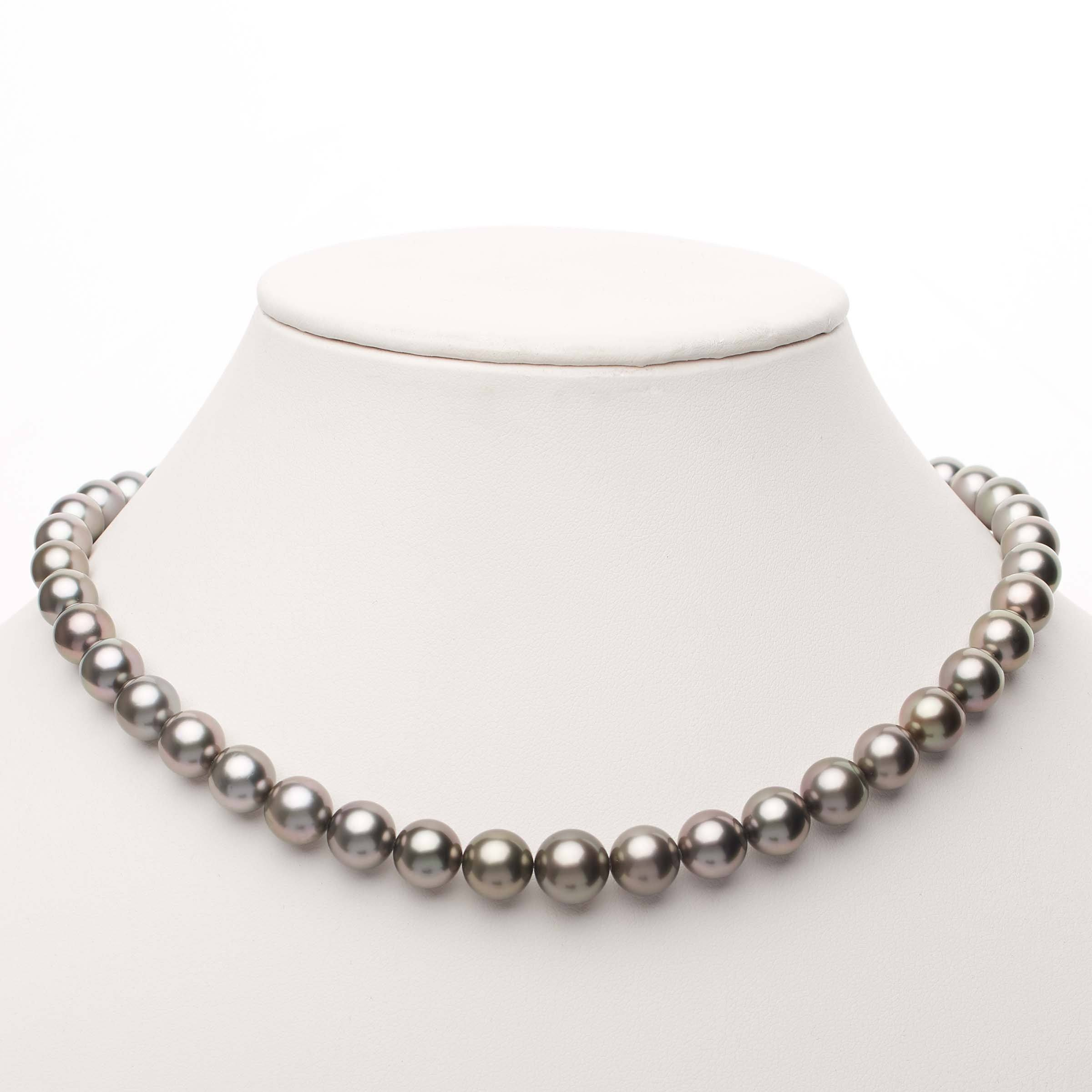 18-inch 8.0-10.5 mm AAA Round Tahitian Pearl Necklace