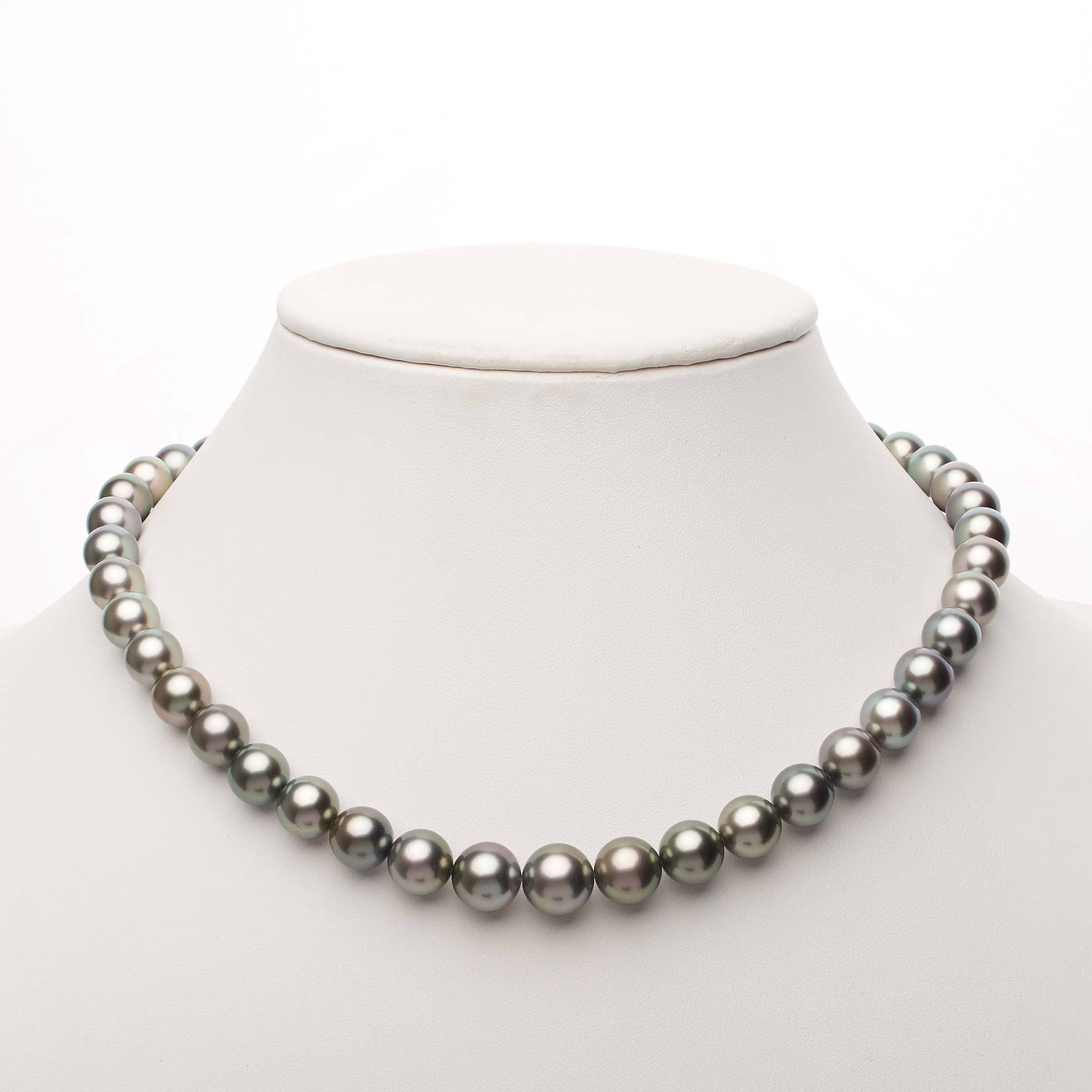 18-inch 9.0-11.1 mm AAA Round Tahitian Pearl Necklace